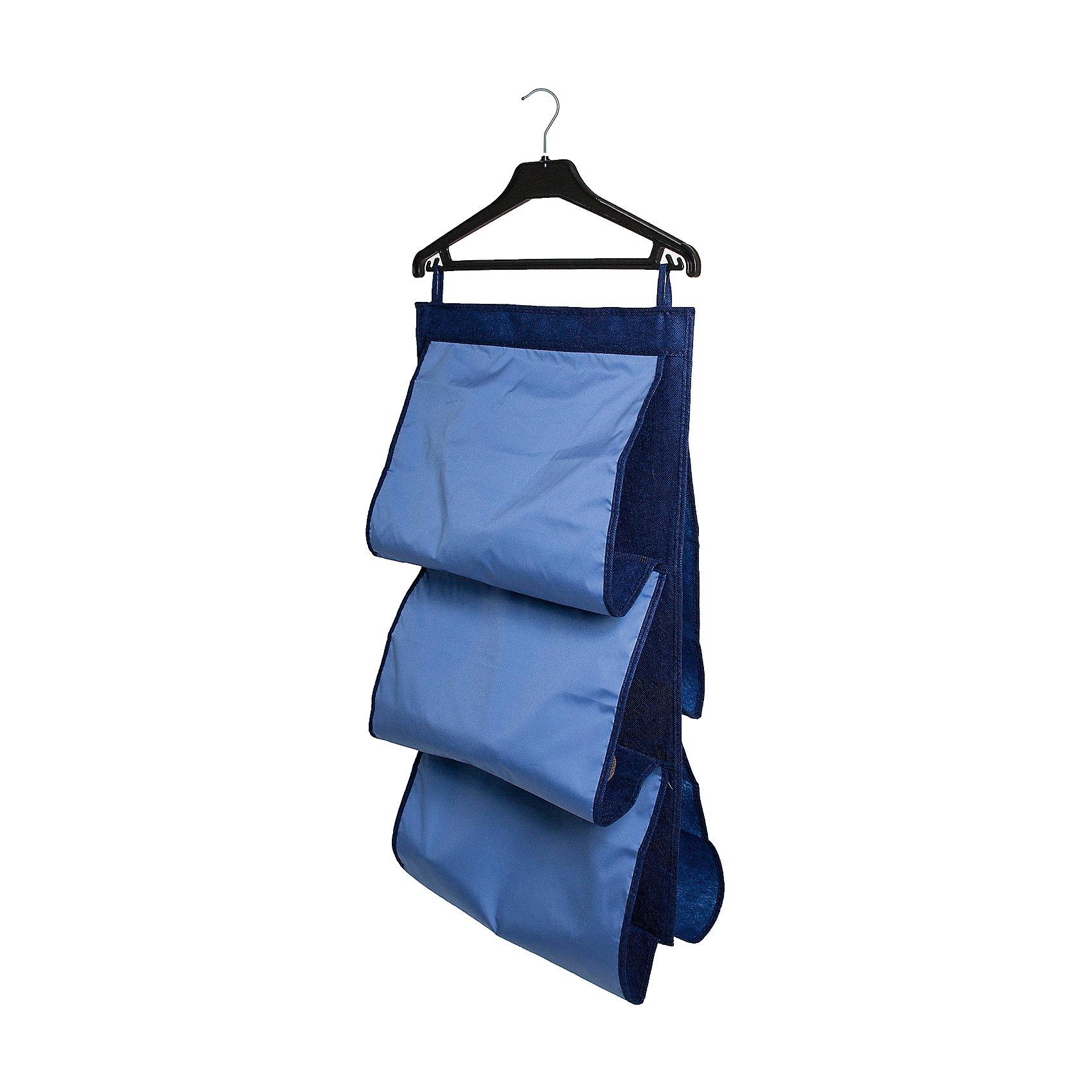 Органайзер для сумок в шкаф Blue sky, HomsuПорядок в детской<br>Подвесной двусторонний органайзер имеет 5 раздельных ячеек шириной 40см, очень удобен для хранения вещей в вашем шкафу. Идеально для сумок, клатчей и других вещей ежедневного пользования.<br><br>Ширина мм: 450<br>Глубина мм: 300<br>Высота мм: 20<br>Вес г: 300<br>Возраст от месяцев: 216<br>Возраст до месяцев: 1188<br>Пол: Унисекс<br>Возраст: Детский<br>SKU: 5620230