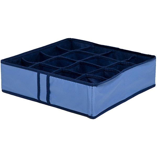 Органайзер на 16 ячеек Blue sky, HomsuОрганайзеры для одежды<br>Характеристики товара:<br><br>• цвет: синий<br>• материал: полиэстер, картон<br>• размер: 35х35х10 см<br>• вес: 200 г<br>• легкий прочный каркас<br>• обеспечивает естественную вентиляцию<br>• вместимость: 16 отделений<br>• страна бренда: Россия<br>• страна изготовитель: Китай<br><br>Органайзер на 16 ячеек Blue sky от бренда Homsu (Хомсу) - очень удобная вещь для хранения вещей и эргономичной организации пространства.<br><br>Он легкий, устойчивый, вместительный, обеспечивает естественную вентиляцию.<br><br>Органайзер для бюстгальтеров на 16 ячеек Blue sky, Homsu можно купить в нашем интернет-магазине.<br><br>Ширина мм: 350<br>Глубина мм: 100<br>Высота мм: 20<br>Вес г: 200<br>Возраст от месяцев: 216<br>Возраст до месяцев: 1188<br>Пол: Унисекс<br>Возраст: Детский<br>SKU: 5620231