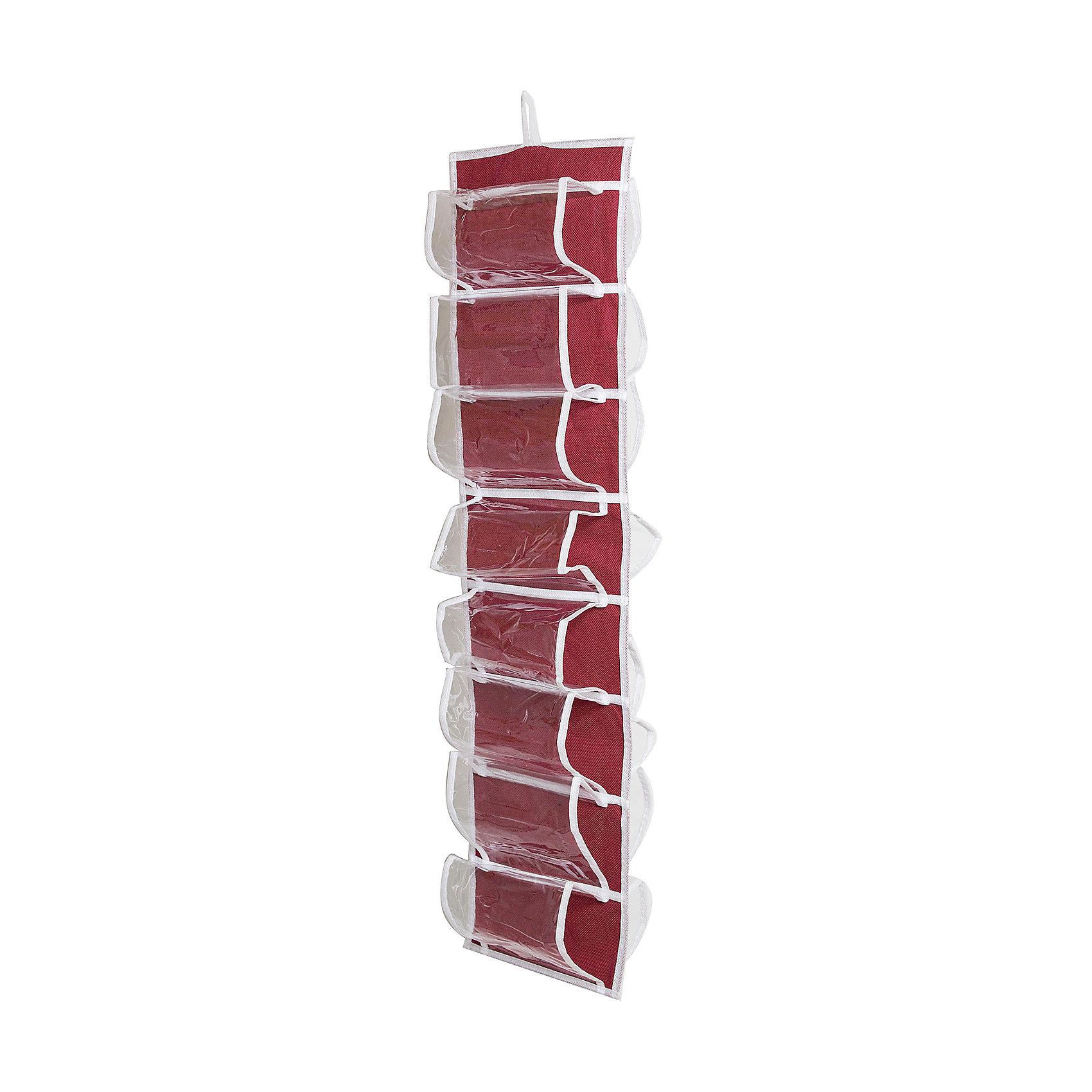 Органайзер для колготок, шарфов и мелочей Red Rose, HomsuПорядок в детской<br>Характеристики товара:<br><br>• цвет: бордовый<br>• материал: полиэстер<br>• размер: 20х80 см.<br>• вес: 200 гр.<br>• легко складывается и раскладывается<br>• крепление: петля<br>• естественная вентиляция<br>• вместимость: 16 отделений<br>• страна бренда: Россия<br>• страна изготовитель: Китай<br><br>Органайзер для колготок, шарфов и мелочей Red Rose от бренда Homsu (Хомсу) - очень удобная вещь для хранения вещей и эргономичной организации пространства.<br><br>Он состоит из 16 отделений, легко крепится на стену, дверь или внутрь шкафов.<br><br>Органайзер для колготок, шарфов и мелочей Red Rose, Homsu можно купить в нашем интернет-магазине.<br><br>Ширина мм: 300<br>Глубина мм: 220<br>Высота мм: 20<br>Вес г: 200<br>Возраст от месяцев: 216<br>Возраст до месяцев: 1188<br>Пол: Унисекс<br>Возраст: Детский<br>SKU: 5620234