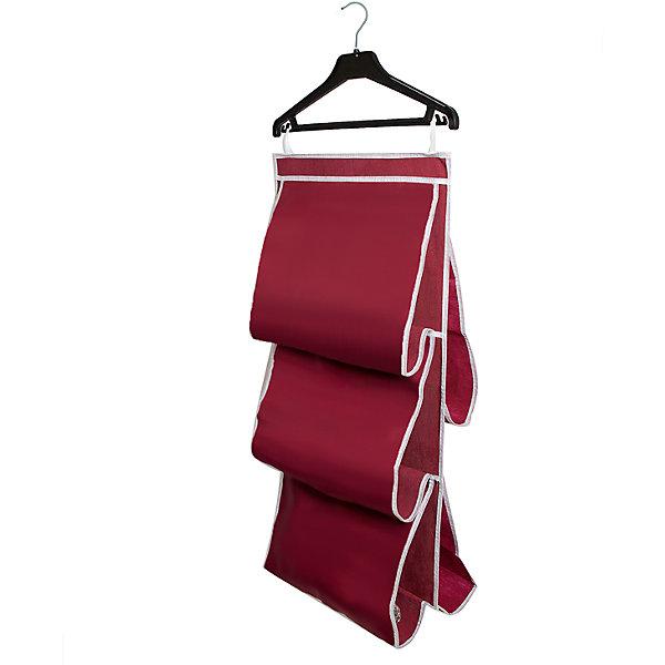 Органайзер для сумок в шкаф Red Rose, HomsuОрганайзеры для одежды<br>Характеристики товара:<br><br>• цвет: бордовый<br>• материал: полиэстер<br>• размер: 70х40х2 см.<br>• вес: 300 гр.<br>• застежка: молния<br>• крепление: крючок<br>• ручка для переноски<br>• вместимость: 5 отделений<br>• страна бренда: Россия<br>• страна изготовитель: Китай<br><br>Органайзер для сумок в шкаф Red Rose, Homsu (Хомсу) - очень удобная вещь для хранения вещей и эргономичной организации пространства.<br><br>Он состоит из пяти отделений, легко крепится на стену, дверь или внутрь шкафов.<br><br>Органайзер для сумок в шкаф Red Rose, Homsu можно купить в нашем интернет-магазине.<br><br>Ширина мм: 450<br>Глубина мм: 300<br>Высота мм: 20<br>Вес г: 300<br>Возраст от месяцев: 216<br>Возраст до месяцев: 1188<br>Пол: Унисекс<br>Возраст: Детский<br>SKU: 5620235