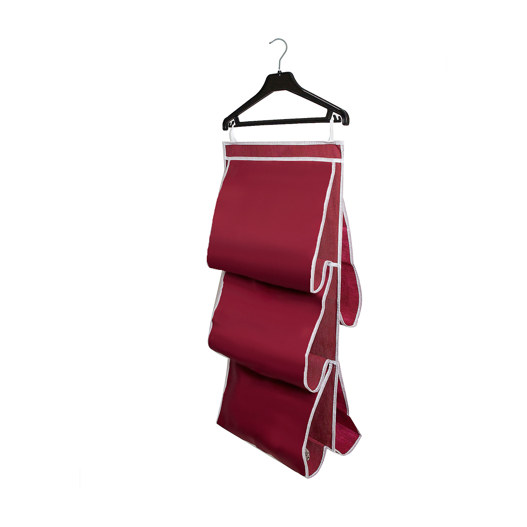 Органайзер для сумок в шкаф Red Rose, HomsuПорядок в детской<br>Характеристики товара:<br><br>• цвет: бордовый<br>• материал: полиэстер<br>• размер: 70х40х2 см.<br>• вес: 300 гр.<br>• застежка: молния<br>• крепление: крючок<br>• ручка для переноски<br>• вместимость: 5 отделений<br>• страна бренда: Россия<br>• страна изготовитель: Китай<br><br>Органайзер для сумок в шкаф Red Rose, Homsu (Хомсу) - очень удобная вещь для хранения вещей и эргономичной организации пространства.<br><br>Он состоит из пяти отделений, легко крепится на стену, дверь или внутрь шкафов.<br><br>Органайзер для сумок в шкаф Red Rose, Homsu можно купить в нашем интернет-магазине.<br><br>Ширина мм: 450<br>Глубина мм: 300<br>Высота мм: 20<br>Вес г: 300<br>Возраст от месяцев: 216<br>Возраст до месяцев: 1188<br>Пол: Унисекс<br>Возраст: Детский<br>SKU: 5620235