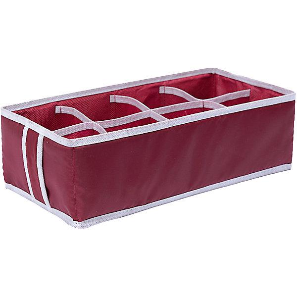 Органайзер на 8 секций Red Rose, HomsuОрганайзеры для одежды<br>Характеристики товара:<br><br>• цвет: бордовый<br>• материал: спанбонд, картон, ПВХ<br>• размер: 33х16х11 см<br>• вес: 100 г<br>• легкий прочный каркас<br>• обеспечивает естественную вентиляцию<br>• вместимость: 8 отделений<br>• страна бренда: Россия<br>• страна изготовитель: Китай<br><br>Органайзер на 8 секций Red Rose от бренда Homsu (Хомсу) - очень удобная вещь для хранения вещей и эргономичной организации пространства.<br><br>Он легкий, устойчивый, вместительный, обеспечивает естественную вентиляцию.<br><br>Органайзер на 8 секций Red Rose, Homsu можно купить в нашем интернет-магазине.<br><br>Ширина мм: 475<br>Глубина мм: 100<br>Высота мм: 10<br>Вес г: 100<br>Возраст от месяцев: 216<br>Возраст до месяцев: 1188<br>Пол: Унисекс<br>Возраст: Детский<br>SKU: 5620237