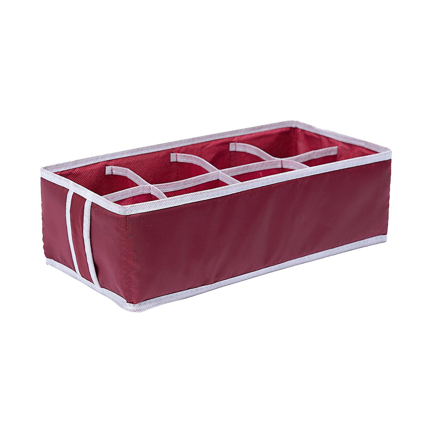 Органайзер на 8 секций Red Rose, HomsuПорядок в детской<br>Прямоугольный органайзер имеет 8 ячеек, очень удобен для хранения вещей среднего размера в вашем ящике или на полке. Идеально для бюстгальтеров, нижнего белья и других вещей ежедневного пользования. Имеет жесткие борта, что является гарантией сохранности вещей.<br><br>Ширина мм: 475<br>Глубина мм: 100<br>Высота мм: 10<br>Вес г: 100<br>Возраст от месяцев: 216<br>Возраст до месяцев: 1188<br>Пол: Унисекс<br>Возраст: Детский<br>SKU: 5620237