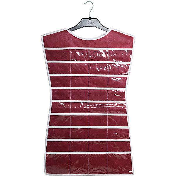 Органайзер-платье для украшений Red Rose, HomsuОрганайзеры для одежды<br>Характеристики товара:<br><br>• цвет: бордовый<br>• материал: полиэстер, ПВХ<br>• размер: 46х75 см<br>• вес: 300 г<br>• подвесной<br>• крепление: крючок<br>• вместимость: 36 отделений<br>• страна бренда: Россия<br>• страна изготовитель: Китай<br><br>Органайзер-платье для украшений Red Rose от бренда Homsu (Хомсу) - очень удобная вещь для хранения вещей и эргономичной организации пространства.<br><br>Он легкий, вместительный, легко помещается в шкафу или на двери.<br><br>Органайзер-платье для украшений Red Rose, Homsu можно купить в нашем интернет-магазине.<br><br>Ширина мм: 500<br>Глубина мм: 400<br>Высота мм: 20<br>Вес г: 300<br>Возраст от месяцев: 216<br>Возраст до месяцев: 1188<br>Пол: Унисекс<br>Возраст: Детский<br>SKU: 5620238