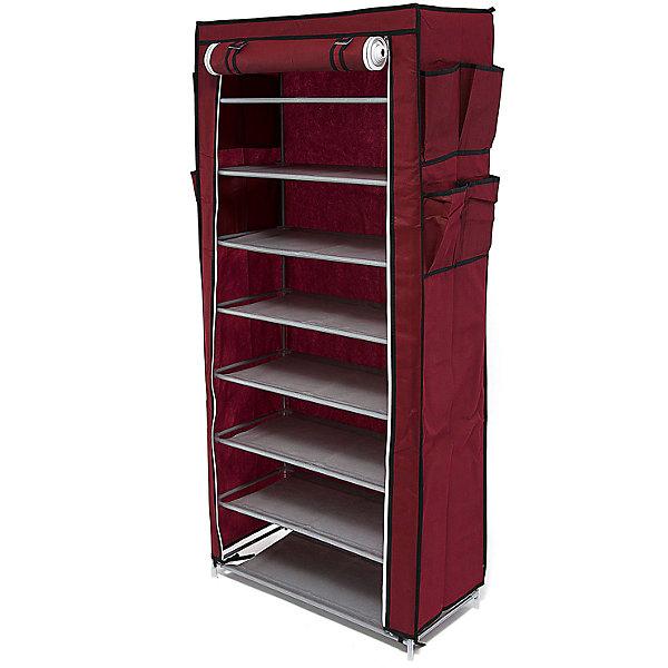 Тканевый шкаф для обуви и аксессуаров Элис, Homsu, бордовыйКоробки для обуви<br>Характеристики товара:<br><br>• цвет: бордовый<br>• материал: металл, пластик, текстиль<br>• размер: 60х30х136 см<br>• вес: 3 кг<br>• застежка: молния<br>• твердый каркас<br>• вместимость: 8 полок 60х30 см, 4 кармана<br>• страна бренда: Россия<br>• страна изготовитель: Китай<br><br>Тканевый шкаф для обуви и аксессуаров Элис, Homsu (Хомсу) - очень удобная вещь для хранения вещей и эргономичной организации пространства.<br><br>Он состоит из восьми отделений, легко собирается и разбирается, позволяет удобно разместить обувь и разные мелочи.<br><br>Тканевый шкаф для обуви и аксессуаров Элис, Homsu можно купить в нашем интернет-магазине.<br><br>Ширина мм: 600<br>Глубина мм: 260<br>Высота мм: 70<br>Вес г: 3000<br>Возраст от месяцев: 216<br>Возраст до месяцев: 1188<br>Пол: Унисекс<br>Возраст: Детский<br>SKU: 5620241