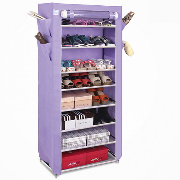 Тканевый шкаф для обуви и аксессуаров Элис, Homsu, фиолетовыйКоробки для обуви<br>Характеристики товара:<br><br>• цвет: фиолетовый<br>• материал: металл, пластик, текстиль<br>• размер: 60х30х136 см<br>• вес: 3 кг<br>• застежка: молния<br>• твердый каркас<br>• вместимость: 8 полок 60х30 см, 4 кармана<br>• страна бренда: Россия<br>• страна изготовитель: Китай<br><br>Тканевый шкаф для обуви и аксессуаров Элис, Homsu (Хомсу) - очень удобная вещь для хранения вещей и эргономичной организации пространства.<br><br>Он состоит из восьми отделений, легко собирается и разбирается, позволяет удобно разместить обувь и разные мелочи.<br><br>Тканевый шкаф для обуви и аксессуаров Элис, Homsu можно купить в нашем интернет-магазине.<br><br>Ширина мм: 600<br>Глубина мм: 260<br>Высота мм: 70<br>Вес г: 3000<br>Возраст от месяцев: 216<br>Возраст до месяцев: 1188<br>Пол: Унисекс<br>Возраст: Детский<br>SKU: 5620243