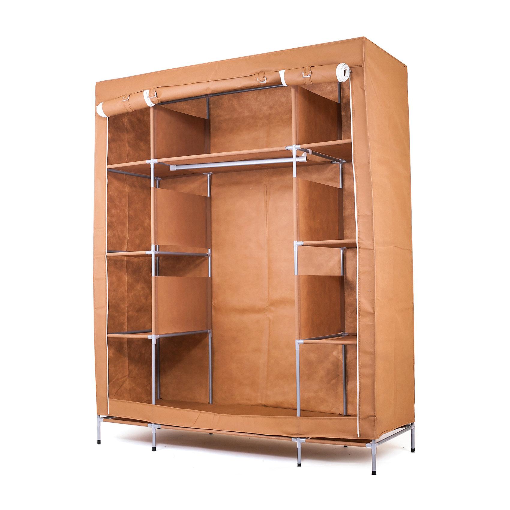 Тканевый шкаф Маджорити, Homsu, коричневыйМебель<br>Этот большой тканевый шкаф будет максимально практичным и удобным помощником в создании полноценного порядка благодаря 8 маленьким полкам для складывания одежды 35Х50см и 1 большой- 70Х50см , а также отделению для подвешивания одежды высотой 120см и шириной 70см. Сборная конструкция такого шкафа состоит из металлических деталей каркаса, обтянутых сверху прочной и лёгкой тканью.<br><br>Ширина мм: 650<br>Глубина мм: 350<br>Высота мм: 110<br>Вес г: 6000<br>Возраст от месяцев: 216<br>Возраст до месяцев: 1188<br>Пол: Унисекс<br>Возраст: Детский<br>SKU: 5620245