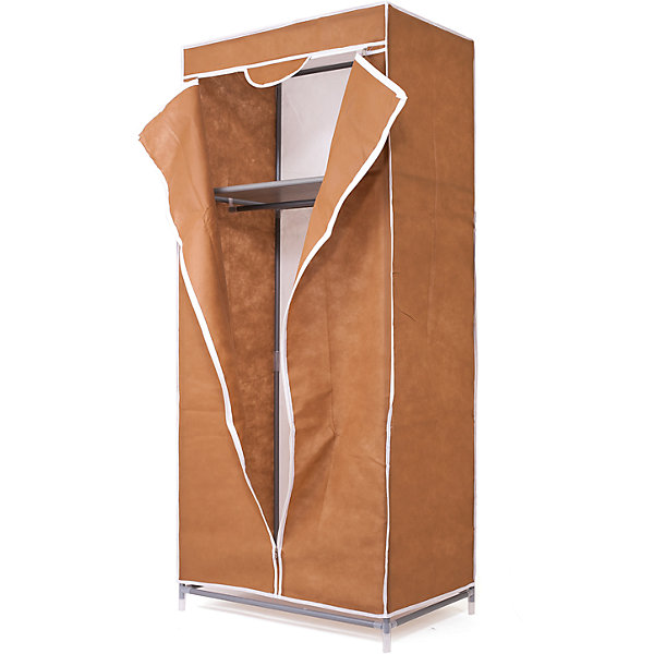 Тканевый шкаф Кармэн, Homsu. КоричневыйКомоды пластиковые<br>Характеристики товара:<br><br>• цвет: коричневый<br>• материал: металл, пластик, текстиль<br>• размер: 68х45х145 см<br>• вес: 3 кг<br>• застежка: молния<br>• твердый каркас<br>• вместимость: полка и перекладина для подвешивания<br>• страна бренда: Россия<br>• страна изготовитель: Китай<br><br>Тканевый шкаф Кармэн, Homsu (Хомсу) - очень удобная вещь для хранения вещей и эргономичной организации пространства.<br><br>Он состоит из двух отделений, материал помогает защитить вещи от пыли и влаги.<br><br>Тканевый шкаф Кармэн, Homsu можно купить в нашем интернет-магазине.<br>Ширина мм: 650; Глубина мм: 260; Высота мм: 70; Вес г: 3000; Возраст от месяцев: 216; Возраст до месяцев: 1188; Пол: Унисекс; Возраст: Детский; SKU: 5620247;
