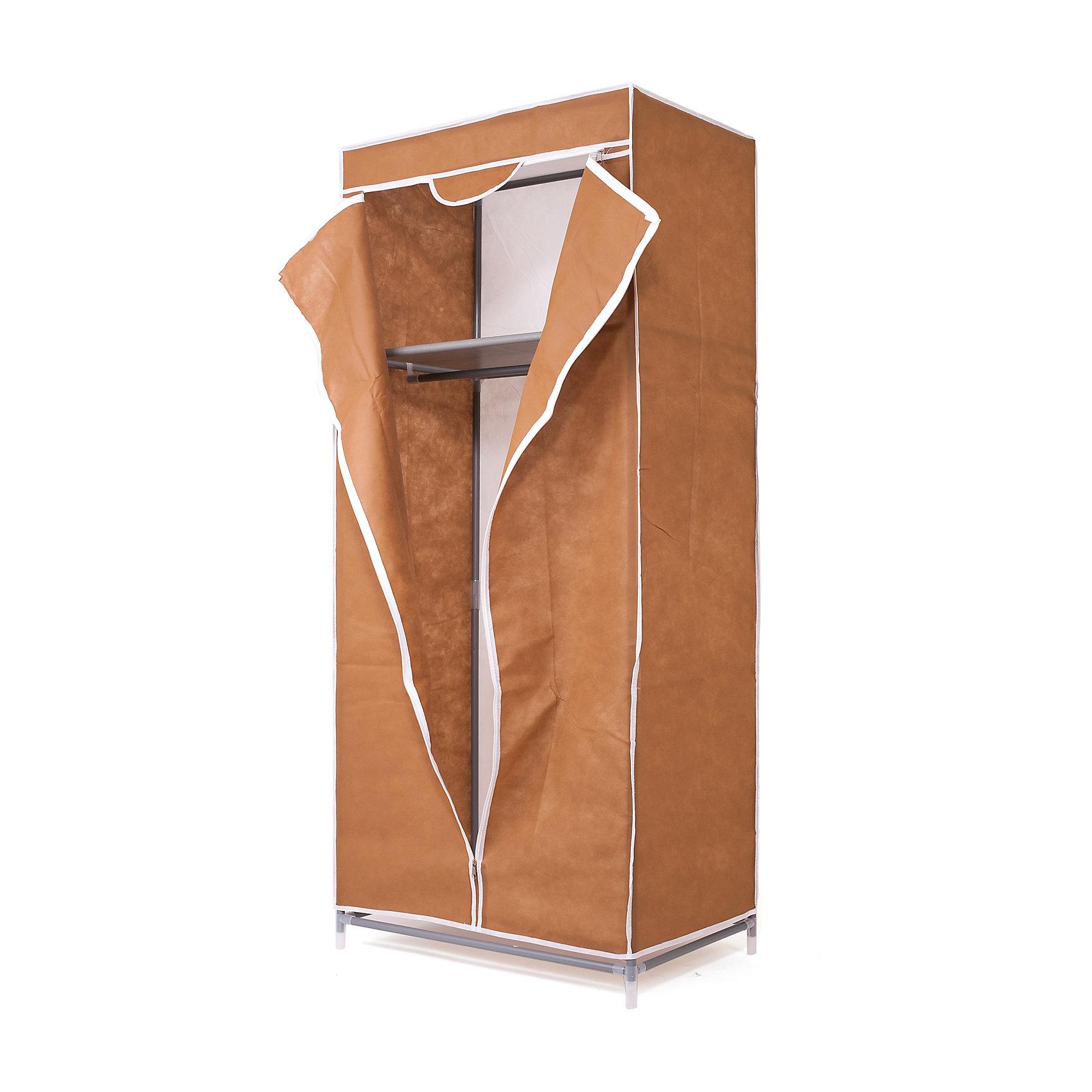 Тканевый шкаф Кармэн, Homsu. КоричневыйПорядок в детской<br>Характеристики товара:<br><br>• цвет: коричневый<br>• материал: металл, пластик, текстиль<br>• размер: 68х45х145 см<br>• вес: 3 кг<br>• застежка: молния<br>• твердый каркас<br>• вместимость: полка и перекладина для подвешивания<br>• страна бренда: Россия<br>• страна изготовитель: Китай<br><br>Тканевый шкаф Кармэн, Homsu (Хомсу) - очень удобная вещь для хранения вещей и эргономичной организации пространства.<br><br>Он состоит из двух отделений, материал помогает защитить вещи от пыли и влаги.<br><br>Тканевый шкаф Кармэн, Homsu можно купить в нашем интернет-магазине.<br><br>Ширина мм: 650<br>Глубина мм: 260<br>Высота мм: 70<br>Вес г: 3000<br>Возраст от месяцев: 216<br>Возраст до месяцев: 1188<br>Пол: Унисекс<br>Возраст: Детский<br>SKU: 5620247