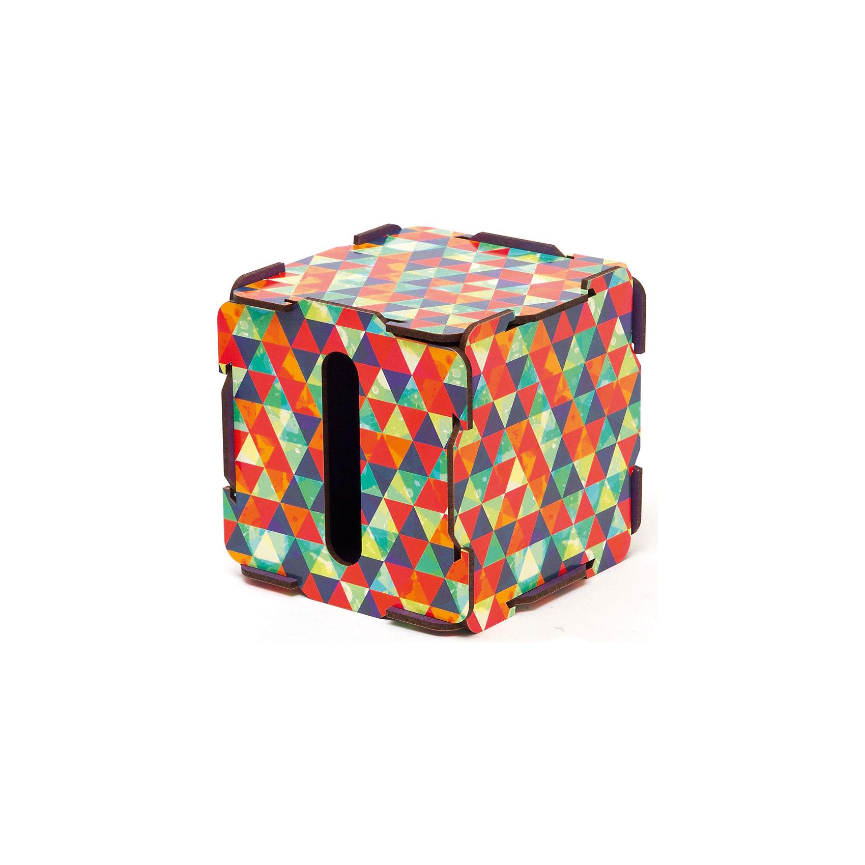 Коробочка для салфеток Треугольник, HomsuПредметы интерьера<br>Оригинальная коробочка представляет собой ящик, изготовленный из МДФ и легко собирающийся, который можно использовать как копилку и органайзер для салфеток, благодаря отделению 10Х1,5см. Коробочка для салфеток и монеток отлично будет смотреться дома и придаст интерьеру оригинальный стиль.<br><br>Ширина мм: 150<br>Глубина мм: 150<br>Высота мм: 30<br>Вес г: 200<br>Возраст от месяцев: 216<br>Возраст до месяцев: 1188<br>Пол: Унисекс<br>Возраст: Детский<br>SKU: 5620257