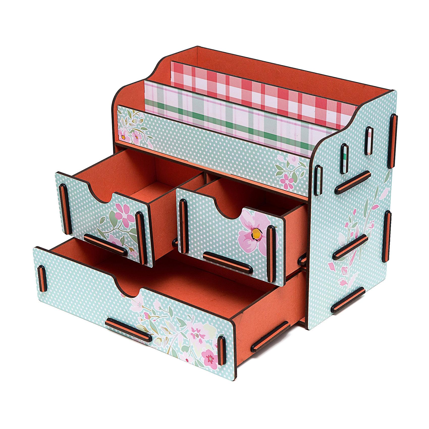 Органайзер для косметики и украшений 6, HomsuПредметы интерьера<br>Органайзер для косметики и украшений благодаря двум маленьким ящикам размером 11Х14, 5см и одному большому ящику размером 22Х14, 5см позволяет разместить все самое необходимое для женщины и всегда иметь это под рукой. Этот оригинальный сундучок имеет также 3 полочки сверху для хранения косметики, парфюмерии и аксессуаров, его можно поставить на столе, он станет отличным дополнением интерьера.<br><br>Ширина мм: 200<br>Глубина мм: 240<br>Высота мм: 50<br>Вес г: 1300<br>Возраст от месяцев: 216<br>Возраст до месяцев: 1188<br>Пол: Унисекс<br>Возраст: Детский<br>SKU: 5620263