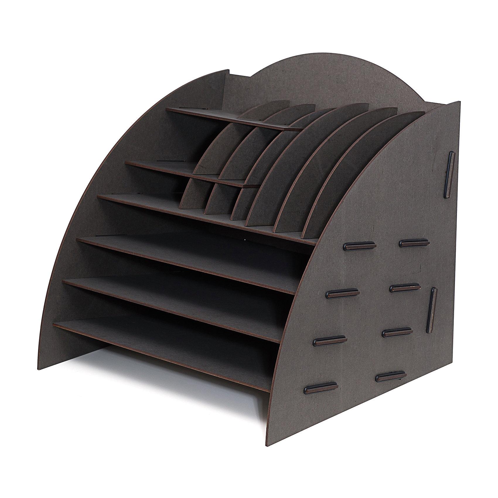 Органайзер на стол 16 отделов чёрный, HomsuПредметы интерьера<br>Этот настольный органайзер просто незаменим на рабочем столе, он вместителен, его размеры впечатляют- 34Х32Х33см и в то же время он не занимает много места. Оригинальный дизайн дополнит интерьер дома и разбавит цвет в скучном сером офисе. Он изготовлен из МДФ и легко собирается из съемных частей. Имеет 3 больших отделения для хранения документов и множество ячеек для хранения канцелярских предметов и всяких мелочей.<br><br>Ширина мм: 340<br>Глубина мм: 340<br>Высота мм: 60<br>Вес г: 2000<br>Возраст от месяцев: 216<br>Возраст до месяцев: 1188<br>Пол: Унисекс<br>Возраст: Детский<br>SKU: 5620267