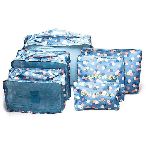 Набор органайзеров для багажа Цветок, Homsu, синийОрганайзеры для одежды<br>Характеристики товара:<br><br>• цвет: синий<br>• материал: металл, полиэстер, сетка<br>• размер: 40х30х10см; 30х25х10см; 30х20х10см; 35х25см; 25х25см: 25х15см<br>• вес: 500 г<br>• комплектация: 6 шт<br>• застежка: молния<br>• ручки для переноски<br>• страна бренда: Россия<br>• страна изготовитель: Китай<br><br>Набор органайзеров для багажа Цветок от бренда Homsu (Хомсу) - очень удобная вещь для хранения вещей и поездок.<br><br>Они легкие, вместительные, некоторые имеют удобную ручку для переноски, помогают защитить вещи от повреждений и загрязнений.<br><br>Набор органайзеров для багажа Цветок, Homsu можно купить в нашем интернет-магазине.<br><br>Ширина мм: 400<br>Глубина мм: 300<br>Высота мм: 120<br>Вес г: 500<br>Возраст от месяцев: 216<br>Возраст до месяцев: 1188<br>Пол: Унисекс<br>Возраст: Детский<br>SKU: 5620289