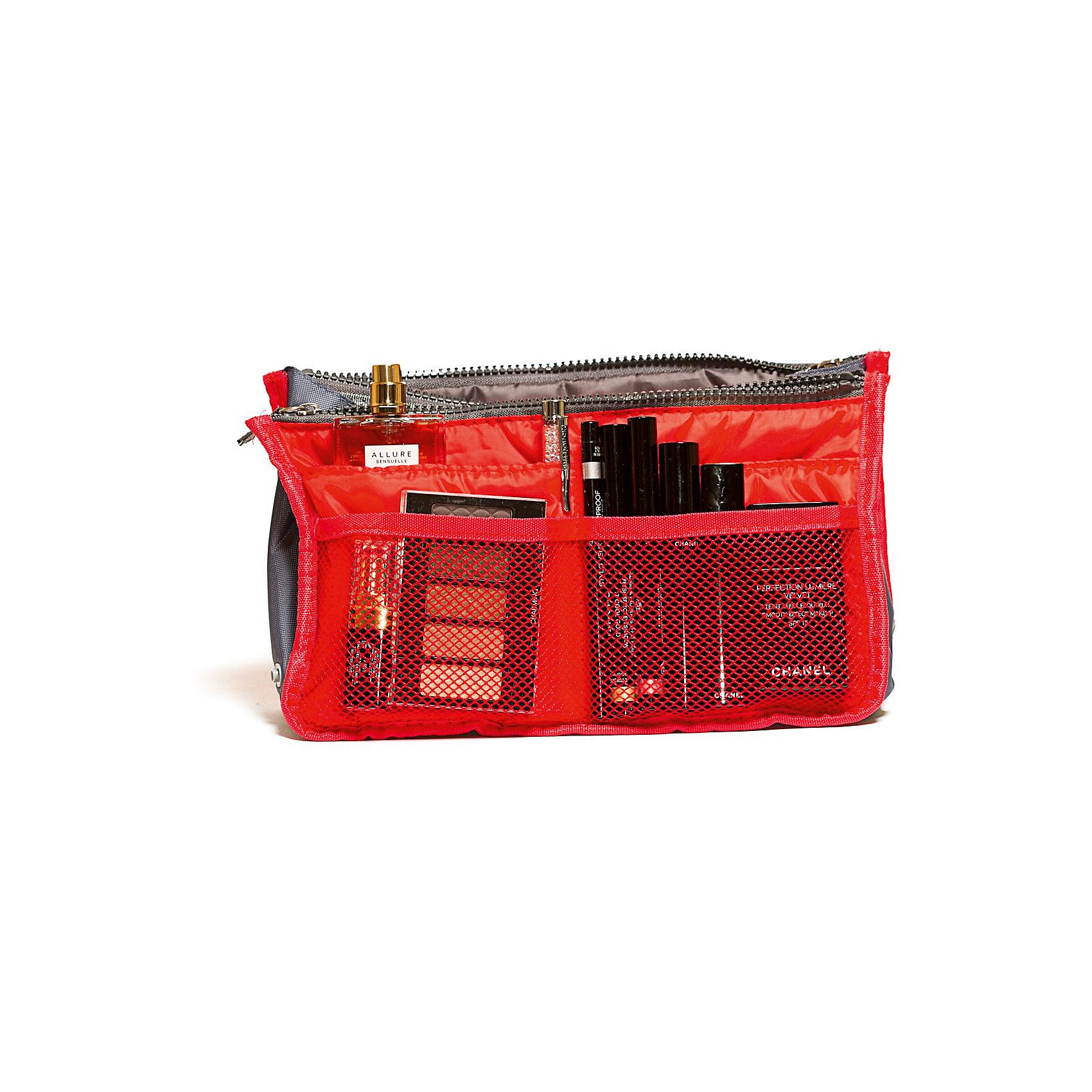 Органайзер для сумки, Homsu, красныйПорядок в детской<br>Характеристики товара:<br><br>• цвет: красный<br>• материал: ткань, полиэстер<br>• размер: 30х8х18 см<br>• вес: 200 г<br>• застежка: молния<br>• ручки для переноски<br>• вместимость: 3 отделения, 10 карманов<br>• страна бренда: Россия<br>• страна изготовитель: Китай<br><br>Органайзер для сумки от бренда Homsu (Хомсу) - очень удобная вещь для хранения вещей и эргономичной организации пространства.<br><br>Он легкий, вместительный, имеет удобную ручку для переноски, можно использовать как отдельный аксессуар.<br><br>Органайзер для сумки, Homsu можно купить в нашем интернет-магазине.<br><br>Ширина мм: 280<br>Глубина мм: 30<br>Высота мм: 170<br>Вес г: 200<br>Возраст от месяцев: 216<br>Возраст до месяцев: 1188<br>Пол: Унисекс<br>Возраст: Детский<br>SKU: 5620308