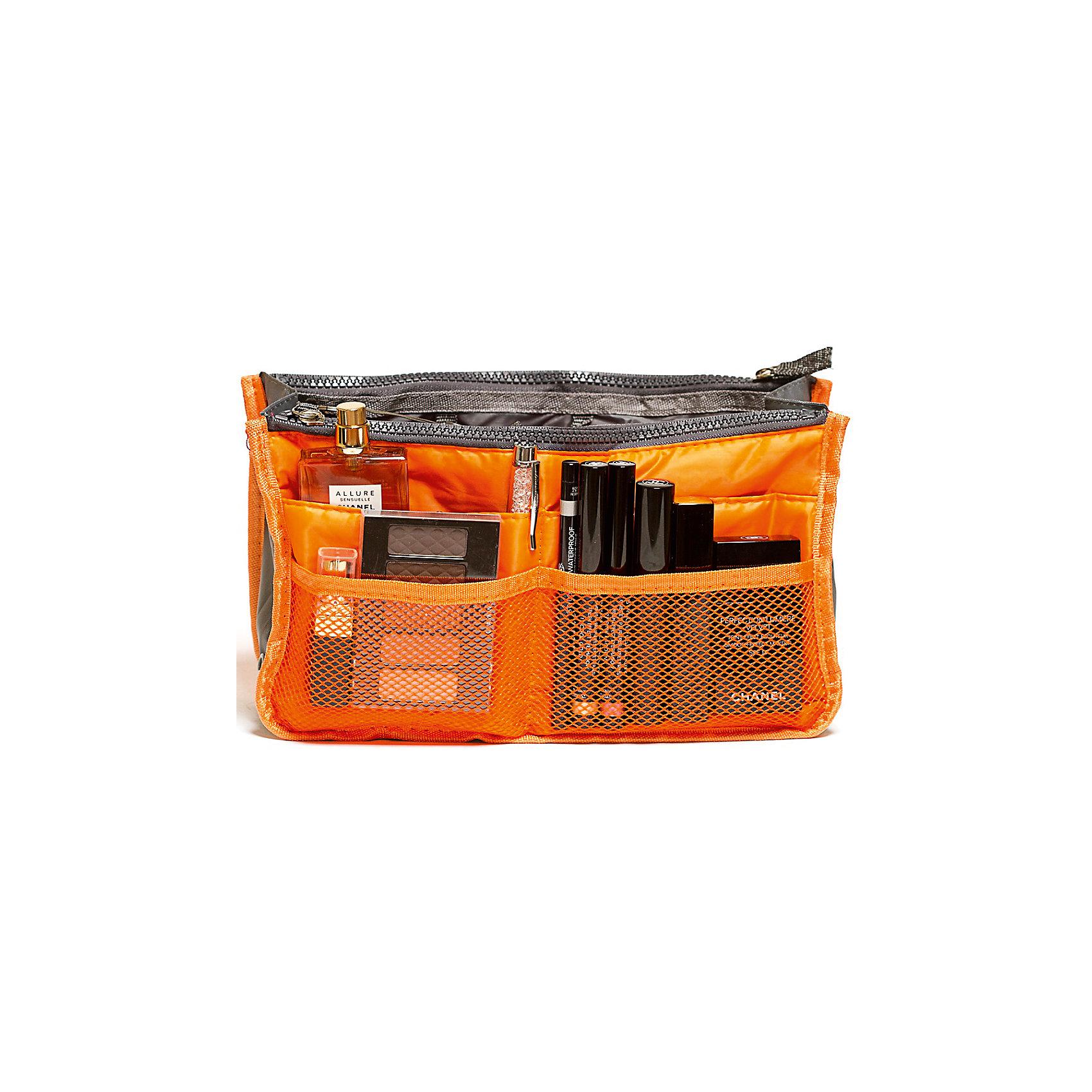 Органайзер для сумки, Homsu, оранжевыйПорядок в детской<br>Этот органайзер для сумки благодаря трем вместительным отделениям для вещей, четырем кармашкам по бокам и шести кармашкам в виде сетки обеспечит полный порядок в вашей сумке. Кроме того, изделие обладает интересным стилем, выполнено в оранжевом цвете и оснащёно двумя крепкими ручками, что позволяет применять его и вне сумки, как отдельный аксессуар.<br><br>Ширина мм: 280<br>Глубина мм: 30<br>Высота мм: 170<br>Вес г: 200<br>Возраст от месяцев: 216<br>Возраст до месяцев: 1188<br>Пол: Унисекс<br>Возраст: Детский<br>SKU: 5620309
