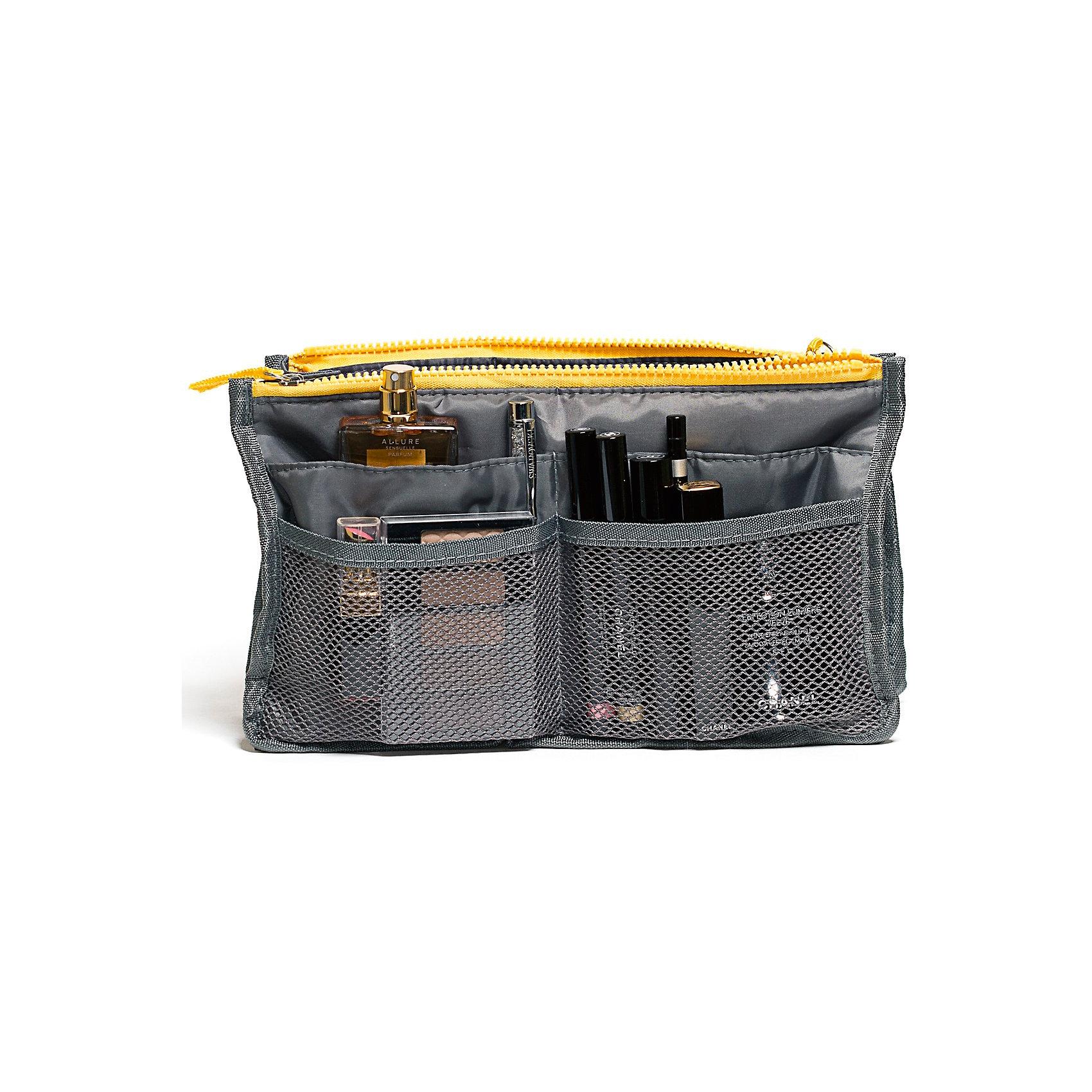 Органайзер для сумки, Homsu, серыйПорядок в детской<br>Этот органайзер для сумки благодаря трем вместительным отделениям для вещей, четырем кармашкам по бокам и шести кармашкам в виде сетки обеспечит полный порядок в вашей сумке. Кроме того, изделие обладает интересным стилем, выполнено в сером цвете и оснащёно двумя крепкими ручками, что позволяет применять его и вне сумки, как отдельный аксессуар.<br><br>Ширина мм: 280<br>Глубина мм: 30<br>Высота мм: 170<br>Вес г: 200<br>Возраст от месяцев: 216<br>Возраст до месяцев: 1188<br>Пол: Унисекс<br>Возраст: Детский<br>SKU: 5620310