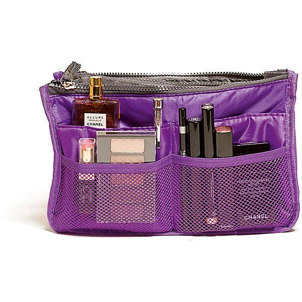 Органайзер для сумки, Homsu, фиолетовыйОрганайзеры для одежды<br>Характеристики товара:<br><br>• цвет: фиолетовый<br>• материал: ткань, полиэстер<br>• размер: 30х8х18 см<br>• вес: 200 г<br>• застежка: молния<br>• ручки для переноски<br>• вместимость: 3 отделения, 10 карманов<br>• страна бренда: Россия<br>• страна изготовитель: Китай<br><br>Органайзер для сумки от бренда Homsu (Хомсу) - очень удобная вещь для хранения вещей и эргономичной организации пространства.<br><br>Он легкий, вместительный, имеет удобную ручку для переноски, можно использовать как отдельный аксессуар.<br><br>Органайзер для сумки, Homsu можно купить в нашем интернет-магазине.<br>Ширина мм: 280; Глубина мм: 30; Высота мм: 170; Вес г: 200; Возраст от месяцев: 216; Возраст до месяцев: 1188; Пол: Унисекс; Возраст: Детский; SKU: 5620312;