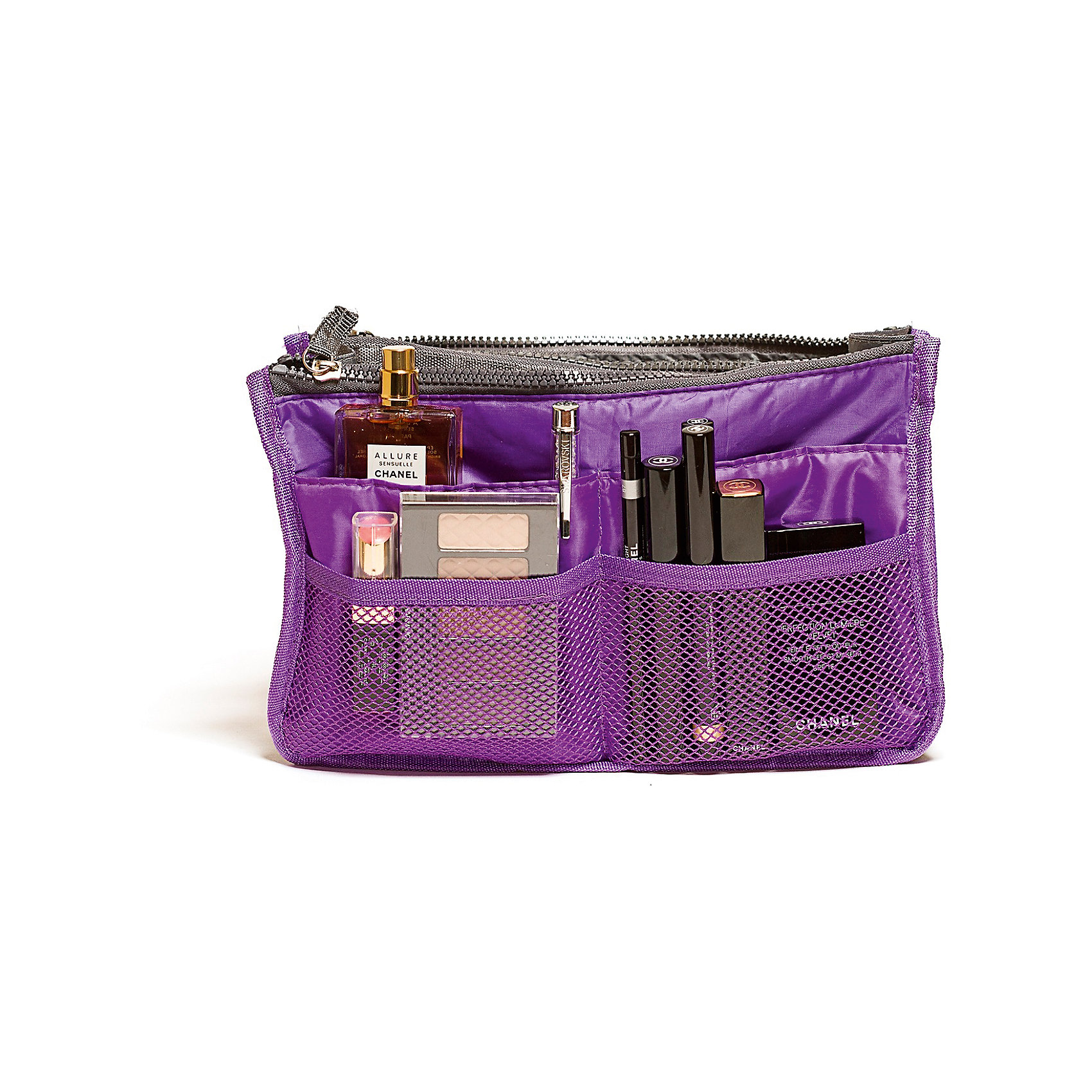 Органайзер для сумки, Homsu, фиолетовыйОрганайзеры для одежды<br>Характеристики товара:<br><br>• цвет: фиолетовый<br>• материал: ткань, полиэстер<br>• размер: 30х8х18 см<br>• вес: 200 г<br>• застежка: молния<br>• ручки для переноски<br>• вместимость: 3 отделения, 10 карманов<br>• страна бренда: Россия<br>• страна изготовитель: Китай<br><br>Органайзер для сумки от бренда Homsu (Хомсу) - очень удобная вещь для хранения вещей и эргономичной организации пространства.<br><br>Он легкий, вместительный, имеет удобную ручку для переноски, можно использовать как отдельный аксессуар.<br><br>Органайзер для сумки, Homsu можно купить в нашем интернет-магазине.<br><br>Ширина мм: 280<br>Глубина мм: 30<br>Высота мм: 170<br>Вес г: 200<br>Возраст от месяцев: 216<br>Возраст до месяцев: 1188<br>Пол: Унисекс<br>Возраст: Детский<br>SKU: 5620312