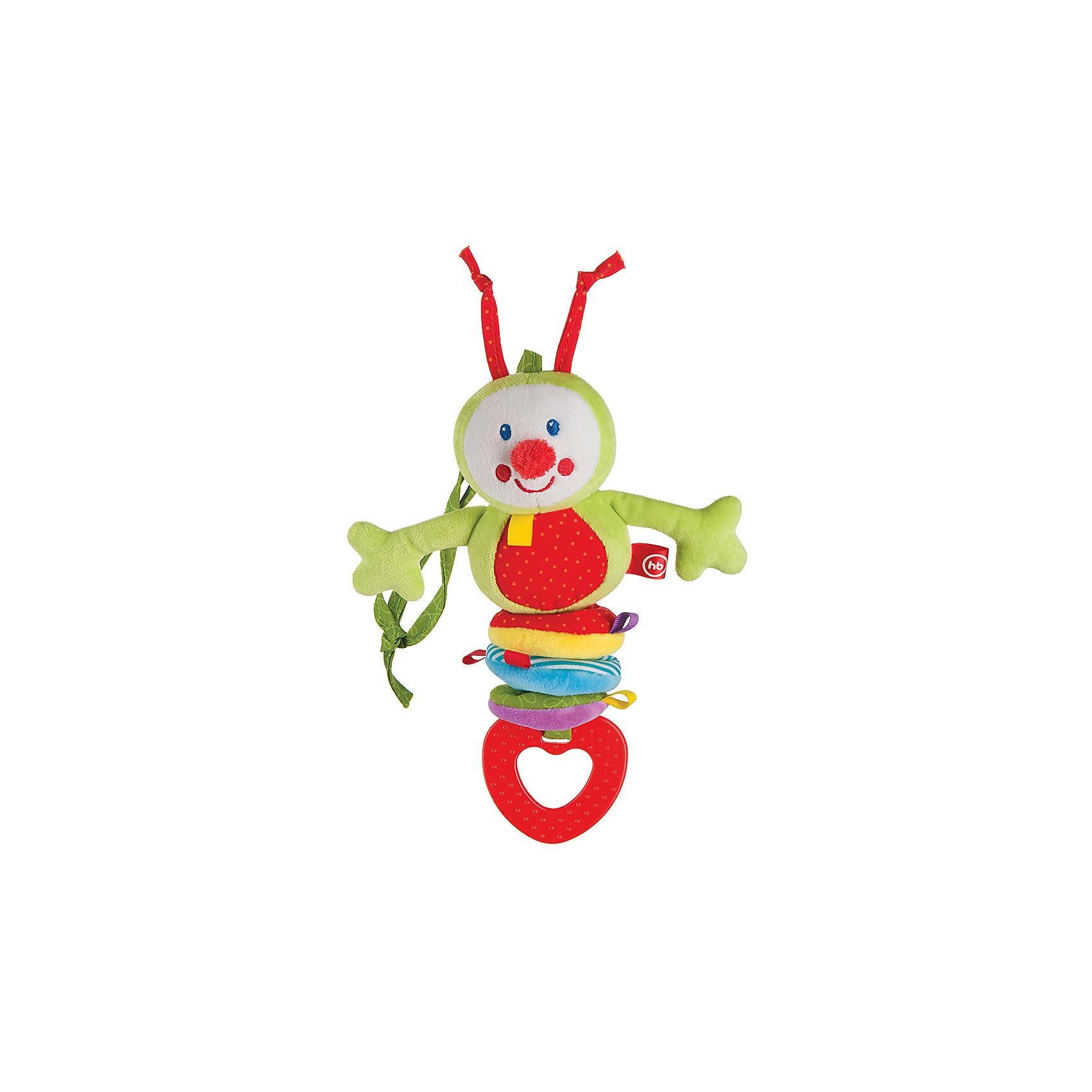 Игрушка-погремушка Chatty Caterpillar, Happy BabyПогремушки<br>Весёлая вибрирующая игрушка-погремушка CHATTY CATERPILLAR не оставит ребёнка равнодушным. Удобные завязки позволяют крепить игрушку на кроватку, коляску, автомобильное кресло, манеж, дуги развивающего коврика и другие предметы. Таким образом любимая игрушка будет везде путешествовать с малышом, радуя и поддерживая его во всех жизненных ситуациях.<br><br>Ширина мм: 58<br>Глубина мм: 120<br>Высота мм: 300<br>Вес г: 96<br>Возраст от месяцев: 0<br>Возраст до месяцев: 18<br>Пол: Унисекс<br>Возраст: Детский<br>SKU: 5621699