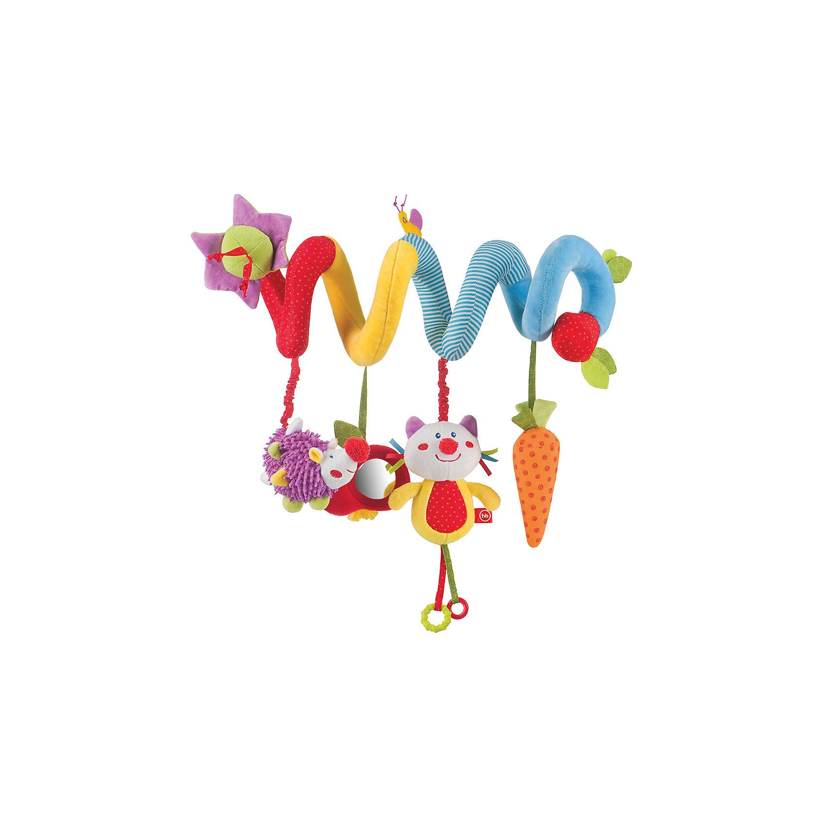 Развивающая игрушка-подвеска  Pretty Garden, Happy BabyРазвивающие игрушки<br>Характеристики:<br><br>• Вид игр: развивающие, обучающие<br>• Материал: полиэстер, хлопок, полимерный материал<br>• Тип крепления: завязки, гибкая спираль<br>• Наличие звуковых, шумовых эффектов<br>• Наличие игрушек-подвесок<br>• Вес: 96 г<br>• Параметры (Д*Ш*В): 5,8*12*30 см <br>• Особенности ухода: влажная и сухая чистка<br><br>Развивающая игрушка-подвеска   Pretty Garden, Happy Baby выполнена в виде мягкой спирали, на которую нанизаны игрушки-подвески: котик, ежик, морковка. Игрушка состоит из элементов разного цвета, фактуры и с различными звуковыми эффектами. Игры с такой погремушкой будут способствовать зрительному и слуховому восприятию, координации движений, будут развивать мелкую моторику рук и эмоциональную сферу ребенка.   <br><br>Развивающую игрушку-подвеску   Pretty Garden, Happy Baby можно купить в нашем интернет-магазине.<br><br>Ширина мм: 130<br>Глубина мм: 233<br>Высота мм: 475<br>Вес г: 216<br>Возраст от месяцев: 0<br>Возраст до месяцев: 18<br>Пол: Унисекс<br>Возраст: Детский<br>SKU: 5621700