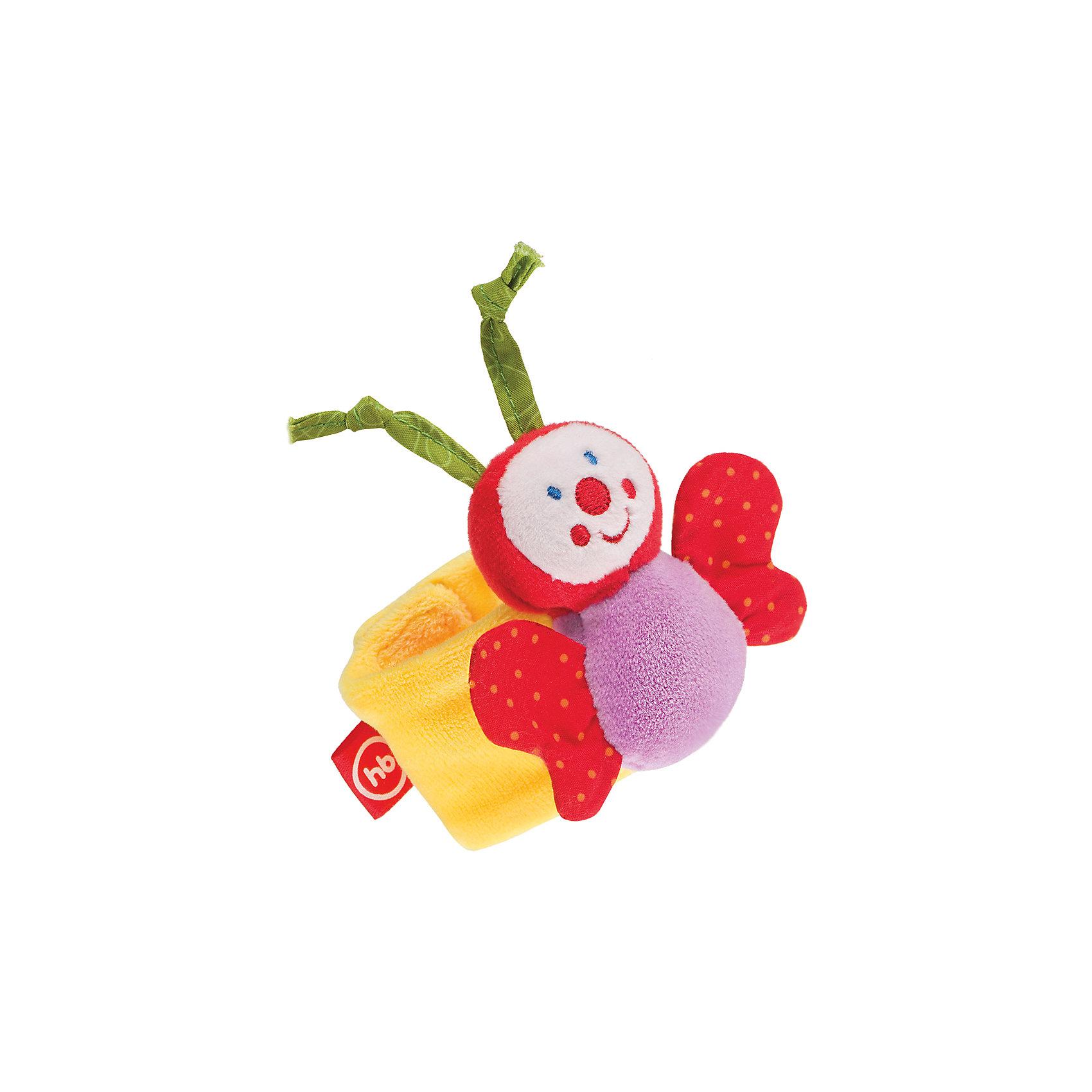 Погремушка-браслет Funny Butterfly, Happy BabyПогремушки<br>Характеристики:<br><br>• Вид игр: развивающие, обучающие<br>• Материал: полиэстер, хлопок, полимерный материал<br>• Тип крепления: липучка<br>• Наличие шумовых эффектов<br>• Универсальный размер<br>• Вес: 44 г<br>• Параметры (Д*Ш*В): 2,5*12*20 см <br>• Особенности ухода: влажная и сухая чистка<br><br>Погремушка-браслет Funny Butterfly, Happy Baby выполнена в виде яркой бабочки, расположенной на широком текстильном браслете. Фиксируется браслет при помощи липучки.   У бабочки яркие детали и шуршащие крылышки. Игры с такой   игрушкой будут способствовать зрительному и слуховому восприятию, координации движений, будут развивать мелкую моторику рук и эмоциональную сферу ребенка.   <br><br>Погремушку-браслет Funny Butterfly, Happy Baby можно купить в нашем интернет-магазине.<br><br>Ширина мм: 25<br>Глубина мм: 120<br>Высота мм: 200<br>Вес г: 44<br>Возраст от месяцев: 3<br>Возраст до месяцев: 18<br>Пол: Унисекс<br>Возраст: Детский<br>SKU: 5621702