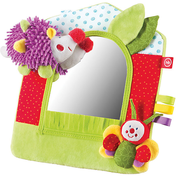 Развивающая игрушка Зеркало Lovely Garden, Happy BabyИгрушки для новорожденных<br>Характеристики:<br><br>• Вид игр: развивающие, обучающие<br>• Материал: полиэстер, хлопок, пластик<br>• Наличие звуковых эффектов<br>• Безопасное зеркало<br>• Наличие подставки<br>• Вес: 165 г<br>• Параметры (Д*Ш*В): 3,7*20,5*30 см <br>• Особенности ухода: влажная и сухая чистка<br><br>Развивающая игрушка Зеркало Lovely Garden, Happy Baby имитирует лесную полянку, на которой обитает веселый ежик и яркая бабочка. В центре мягкой рамки расположено безопасное зеркало. Для устойчивости предусмотрена подставка фиксатор. Все детали рамки имеют разную фактуру и цвет, что важно для развития тактильных ощущений. Игры с такой   игрушкой будут способствовать зрительному и слуховому восприятию, координации движений, будут развивать мелкую моторику рук и эмоциональную сферу ребенка.   <br><br>Развивающую игрушку Зеркало Lovely Garden, Happy Baby можно купить в нашем интернет-магазине.<br>Ширина мм: 37; Глубина мм: 205; Высота мм: 300; Вес г: 165; Возраст от месяцев: 0; Возраст до месяцев: 18; Пол: Унисекс; Возраст: Детский; SKU: 5621706;
