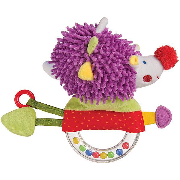 Погремушка-пищалка Funny Hedgehog,  Happy BabyПогремушки<br>Характеристики:<br><br>• Вид игр: развивающие, обучающие<br>• Материал: полиэстер, хлопок, пластик<br>• Тип крепления: завязки<br>• Наличие звуковых, шумовых эффектов<br>• Вес: 88 г<br>• Параметры (Д*Ш*В): 5,5*14*21 см <br>• Особенности ухода: влажная и сухая чистка<br><br>Погремушка-пищалка Funny Hedgehog,   Happy Baby   выполнена в виде ежика, который закреплен на кольце с бусинами внутри. У кольца удобный размер для детской руки. Ежик состоит из элементов разного цвета, фактуры и с различными звуковыми эффектами. Игры с такой игрушкой будут способствовать зрительному и слуховому восприятию, координации движений, будут развивать мелкую моторику рук и эмоциональную сферу ребенка.   <br><br>Погремушку-пищалку Funny Hedgehog,   Happy Baby   можно купить в нашем интернет-магазине.<br>Ширина мм: 55; Глубина мм: 140; Высота мм: 210; Вес г: 88; Возраст от месяцев: 3; Возраст до месяцев: 18; Пол: Унисекс; Возраст: Детский; SKU: 5621710;