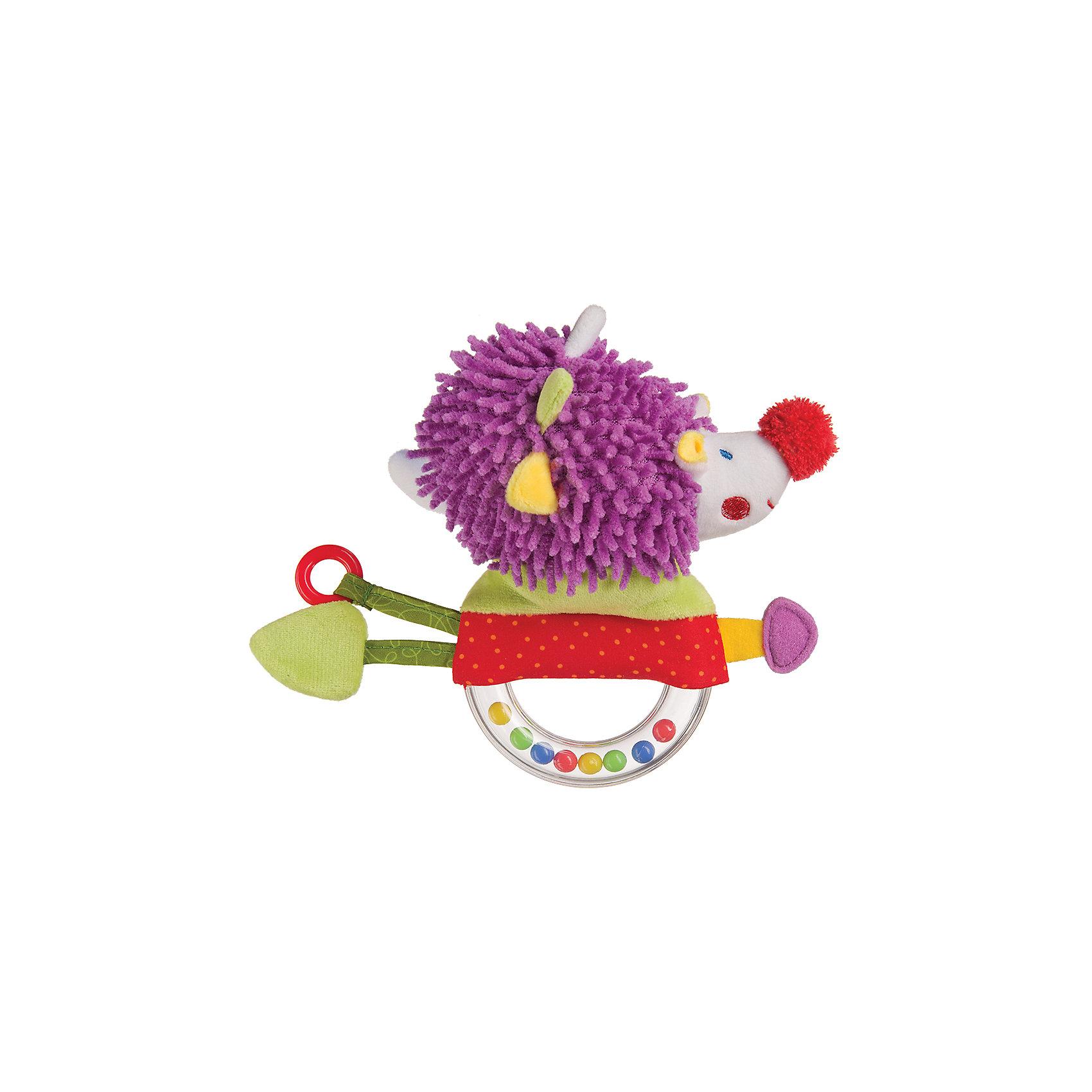 Погремушка-пищалка Funny Hedgehog,  Happy BabyПогремушки<br>Характеристики:<br><br>• Вид игр: развивающие, обучающие<br>• Материал: полиэстер, хлопок, пластик<br>• Тип крепления: завязки<br>• Наличие звуковых, шумовых эффектов<br>• Вес: 88 г<br>• Параметры (Д*Ш*В): 5,5*14*21 см <br>• Особенности ухода: влажная и сухая чистка<br><br>Погремушка-пищалка Funny Hedgehog,   Happy Baby   выполнена в виде ежика, который закреплен на кольце с бусинами внутри. У кольца удобный размер для детской руки. Ежик состоит из элементов разного цвета, фактуры и с различными звуковыми эффектами. Игры с такой игрушкой будут способствовать зрительному и слуховому восприятию, координации движений, будут развивать мелкую моторику рук и эмоциональную сферу ребенка.   <br><br>Погремушку-пищалку Funny Hedgehog,   Happy Baby   можно купить в нашем интернет-магазине.<br><br>Ширина мм: 55<br>Глубина мм: 140<br>Высота мм: 210<br>Вес г: 88<br>Возраст от месяцев: 3<br>Возраст до месяцев: 18<br>Пол: Унисекс<br>Возраст: Детский<br>SKU: 5621710