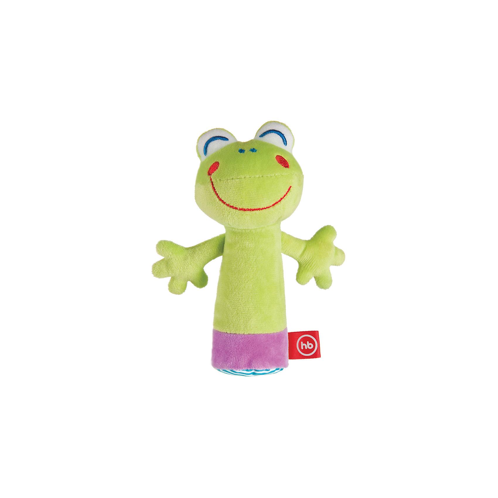 Погремушка-пищалка Cheepy Frogling, Happy babyПогремушки<br>Мягкая пищалка CHEEPY FROGLING представляет собой игрушку в виде весёлого лягушонка, который пищит при нажатии на его животик. Мягкий на ощупь лягушонок с весёлой мордочкой вызывает положительные эмоции у малыша, ведь так и хочется улыбнуться ему в ответ. В руках ребёнка лягушонок оживает и дарит ему много радости!<br><br>Ширина мм: 40<br>Глубина мм: 120<br>Высота мм: 214<br>Вес г: 60<br>Возраст от месяцев: 3<br>Возраст до месяцев: 18<br>Пол: Унисекс<br>Возраст: Детский<br>SKU: 5621713