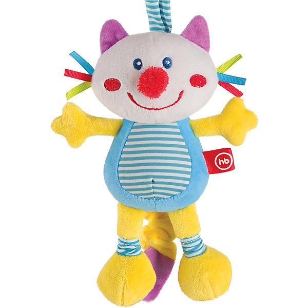 Игрушка мягконабивная Frisky Kitty, Happy babyМягкие игрушки-кошки<br>Характеристики:<br><br>• Вид игр: развивающие, обучающие<br>• Материал: полиэстер, хлопок<br>• Тип крепления: завязки<br>• Наличие звуковых, шумовых эффектов<br>• Наличие вибрации<br>• Вес: 157 г<br>• Параметры (Д*Ш*В): 8*19*33,5 см <br>• Особенности ухода: влажная и сухая чистка<br><br>Игрушка мягконабивная Frisky Kitty, Happy baby выполнена в виде веселого котика, у которого хвостик умеет расправляться и собираться по типу пружинки. Для этого достаточно потянуть за хвостик, он вытянется, а при возвращении к исходной длине игрушка вибрирует. Котик состоит из элементов разного цвета, фактуры и с различными звуковыми эффектами. Игры с такой игрушкой будут способствовать зрительному и слуховому восприятию, координации движений, будут развивать мелкую моторику рук и эмоциональную сферу ребенка.   <br><br>Игрушку мягконабивную Frisky Kitty, Happy baby можно купить в нашем интернет-магазине.<br>Ширина мм: 80; Глубина мм: 190; Высота мм: 335; Вес г: 157; Возраст от месяцев: 0; Возраст до месяцев: 18; Пол: Унисекс; Возраст: Детский; SKU: 5621714;