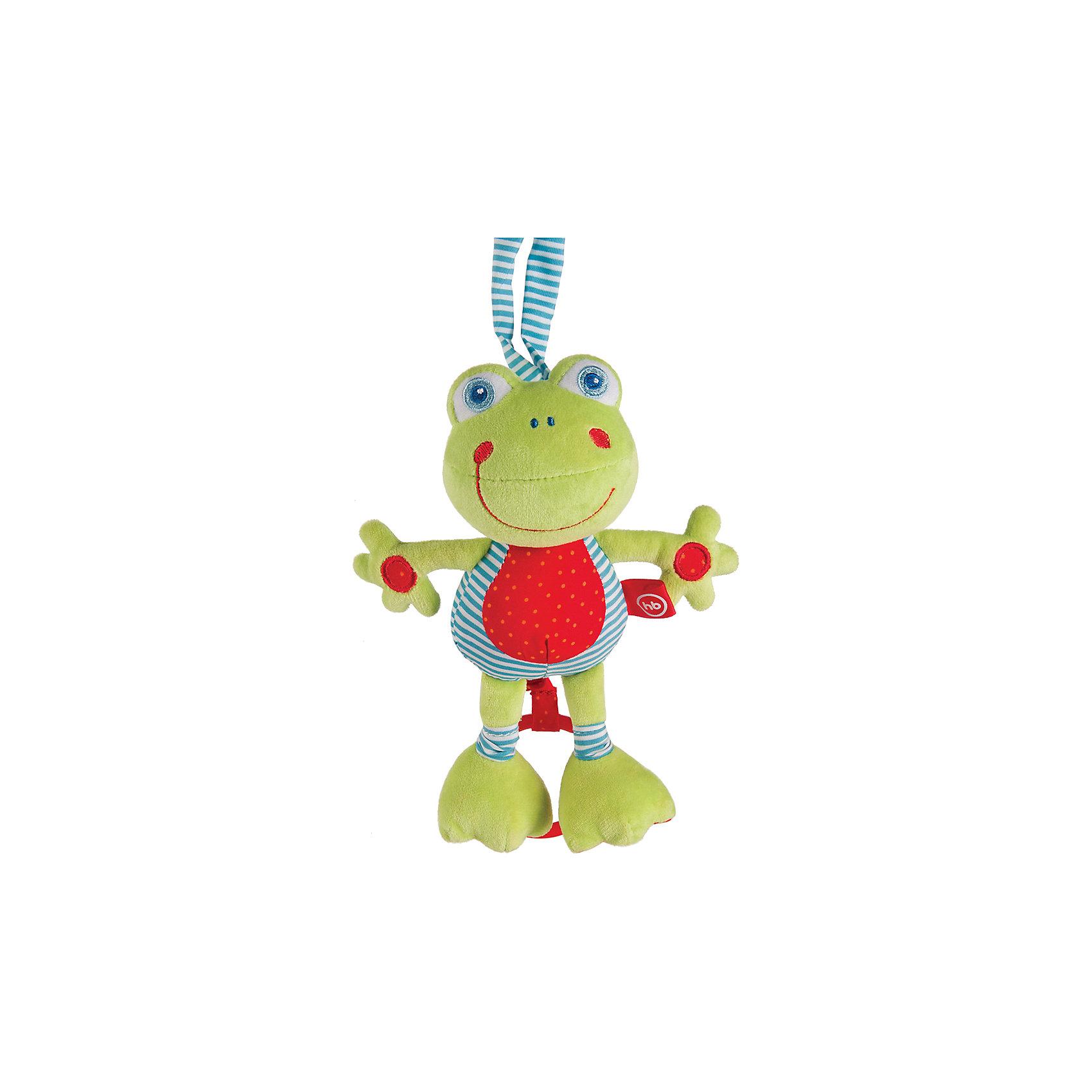 Игрушка мягконабивная Frolic Frogling, Happy babyМягкие игрушки<br>Игрушка FROLIC FROGLING – очень полезный подарок малышу, ведь он таит в себе множество сюрпризов! Её можно использовать как подвеску с самых первых месяцев жизни младенца, когда наблюдение является для него ведущим видом деятельности, но интерес к этой игрушке ребёнок сохранит на протяжении всего младенческого возраста.<br><br>Ширина мм: 80<br>Глубина мм: 205<br>Высота мм: 335<br>Вес г: 200<br>Возраст от месяцев: 0<br>Возраст до месяцев: 18<br>Пол: Унисекс<br>Возраст: Детский<br>SKU: 5621715