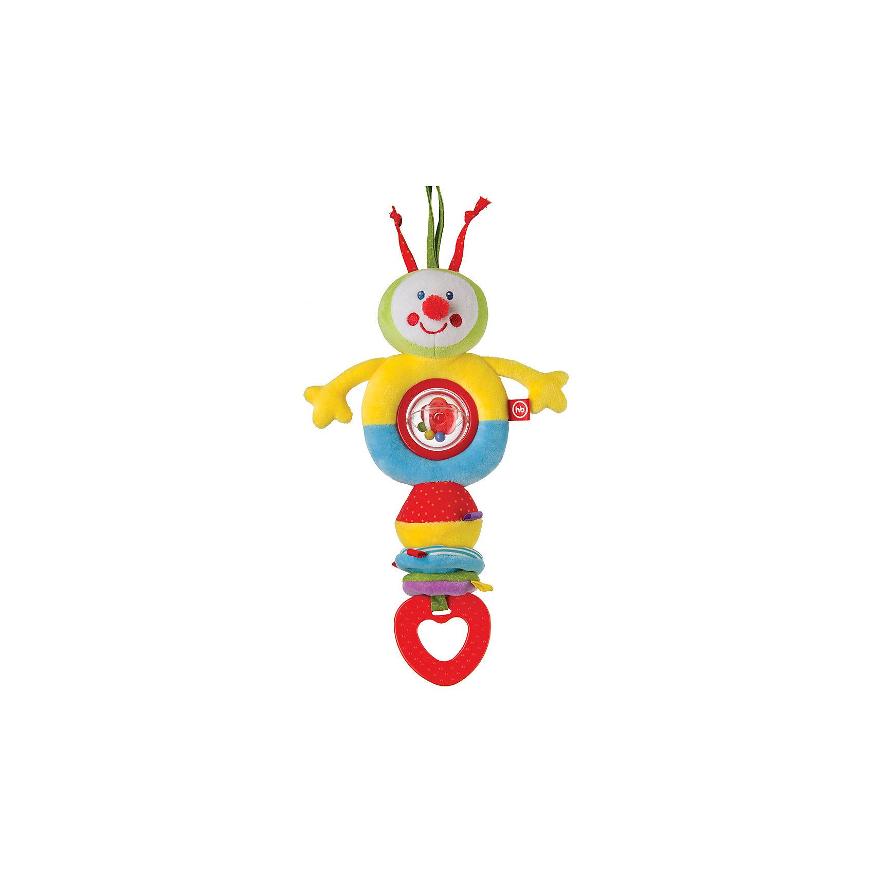Игрушка-погремушка Talky Caterpillar, Happy BabyПогремушки<br>Весёлая вибрирующая игрушка-погремушка TALKY CATERPILLAR не оставит ребёнка равнодушным. Удобные завязки позволяют крепить игрушку на кроватку, коляску, автомобильное кресло, манеж, дуги развивающего коврика и другие предметы. Таким образом любимая игрушка будет везде путешествовать с малышом, радуя и поддерживая его во всех жизненных ситуациях.<br><br>Ширина мм: 55<br>Глубина мм: 120<br>Высота мм: 370<br>Вес г: 136<br>Возраст от месяцев: 0<br>Возраст до месяцев: 18<br>Пол: Унисекс<br>Возраст: Детский<br>SKU: 5621716