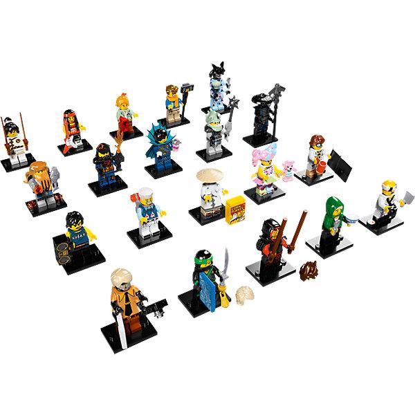 LEGO Minifigures 71019: Минифигурка ЛЕГО Фильм: Ниндзяго, в ассортиментеПластмассовые конструкторы<br>Характеристики товара: <br><br>• возраст: от 5 лет;<br>• материал: пластик;<br>• в комплекте: минифигурка, подставка, памятка коллекционера;<br>• размер упаковки: 12х9х2 см;<br>• вес упаковки: 35 гр.;<br>• страна производитель: Китай.<br><br>Минифигурки Lego Minifigures «Лего: Ниндзяго» посвящены новому анимационному фильму «Лего Фильм: Ниндзяго». Каждая фигурка представляет собой одного из персонажей мультфильма. Фигурки упакованы в непрозрачный пакет, поэтому какой именно персонаж достанется ребенку, станет для него сюрпризом. А разобраться во всех героях поможет памятка коллекционера.<br><br>Минифигурки Lego Minifigures «Лего: Ниндзяго» можно приобрести в нашем интернет-магазине.<br><br>Ширина мм: 114<br>Глубина мм: 88<br>Высота мм: 12<br>Вес г: 8<br>Возраст от месяцев: 84<br>Возраст до месяцев: 168<br>Пол: Мужской<br>Возраст: Детский<br>SKU: 5621720