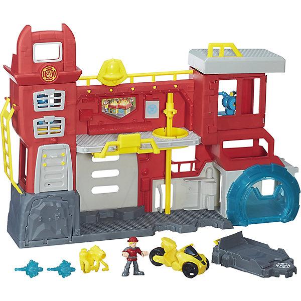 Трансформеры спасатели Штаб Спасателей, Playskool heroes, HasbroИгровые наборы с фигурками<br>Характеристики товара:<br><br>• возраст от 3 лет;<br>• материал: пластик;<br>• в комплекте: штаб, 2 фигурки, машина;<br>• размер штаба 52,5х30,5х6,8 см;<br>• размер упаковки 57,8х21,9х42,2 см;<br>• вес упаковки 1,66 кг;<br>• страна производитель: Китай.<br><br>Игровой набор «Трансформеры-спасатели: Штаб спасателей» Playskool heroes Hasbro создан по мотивам мультсериала «Трансформеры: роботы-спасатели». Он представляет собой настоящий штаб спасателей с пожарной станцией и насосом для тушения пожаров. На второй этаж можно добраться по приставной лестницы, а спуститься быстро по шесту. Наверху имеется площадка для посадки вертолета. В процессе игры мальчишки могут воспроизводить сценки из мультфильма или придумывать свои собственные истории.<br><br>Игровой набор «Трансформеры-спасатели: Штаб спасателей» Playskool heroes Hasbro можно приобрести в нашем интернет-магазине.<br>Ширина мм: 578; Глубина мм: 219; Высота мм: 422; Вес г: 1665; Возраст от месяцев: 36; Возраст до месяцев: 84; Пол: Мужской; Возраст: Детский; SKU: 5622046;