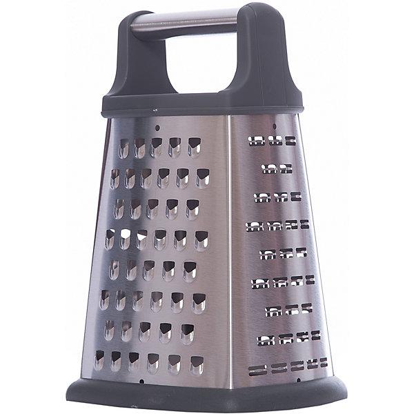Терка четырехгранная LEO-GR-052-8, LeonordКухонная утварь<br>Терка четырехгранная LEO-GR-052-8, Leonord (Леонорд)<br><br>Характеристики:<br><br>• нескользящее основание<br>• материал: нержавеющая сталь<br>• высота терки: 20 см<br>• ручка: пластик, нержавеющая сталь<br>• размер упаковки: 21х12х14 см<br>• вес: 367 грамм<br><br>Тёрка - одна из самых необходимых кухонных принадлежностей. Терка Leo-GR-052-8 имеет четыре грани, которые позволят вам измельчить продукты до необходимого размера и нужной формы. Терка изготовлена из нержавеющей стали, ручка - из пластика и нержавеющей стали. Прорезиненное дно препятствует скольжению изделия по столу. Высота терки - 20 сантиметров.<br><br>Терку четырехгранную LEO-GR-052-8, Leonord (Леонорд) вы можете купить в нашем интернет-магазине.<br>Ширина мм: 140; Глубина мм: 120; Высота мм: 210; Вес г: 367; Возраст от месяцев: 216; Возраст до месяцев: 1188; Пол: Унисекс; Возраст: Детский; SKU: 5622834;