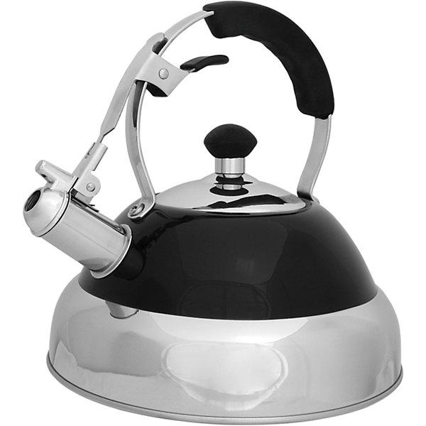Чайник из нерж. стали MAL-046 , 2,5 л, Mallony, чёрныйКухонная утварь<br>Чайник из нерж. стали MAL-046 , 2,5 л, Mallony (Маллони), чёрный<br><br>Характеристики:<br><br>• свисток, оповещающий о закипании воды<br>• ручка из силикона<br>• тройное капсулированное дно<br>• материал: нержавеющая сталь, силикон, металл<br>• цвет: красный<br>• объем: 2,5 литра<br>• размер упаковки: 22х23х24 см<br>• вес: 1192 грамма<br><br>Чайник MAL-046 - настоящий помощник для хозяек. Чайник быстро вскипятит воду, а свисток оповестит вас о закипании воды. Изделие имеет тройное капсулированное дно, что значительно сократит время приготовления и защитит чайник от окисления. Ручка чайника изготовлена из силикона, благодаря чему вы сможете удобно взять чайник после подогрева воды. Чайник выполнен из нержавеющей стали, которая гарантирует посуде долговечность.<br><br>Чайник из нерж. стали MAL-046 , 2,5 л, Mallony (Маллони), чёрный вы можете купить в нашем интернет-магазине.<br><br>Ширина мм: 230<br>Глубина мм: 220<br>Высота мм: 240<br>Вес г: 1192<br>Возраст от месяцев: 216<br>Возраст до месяцев: 1188<br>Пол: Унисекс<br>Возраст: Детский<br>SKU: 5622850