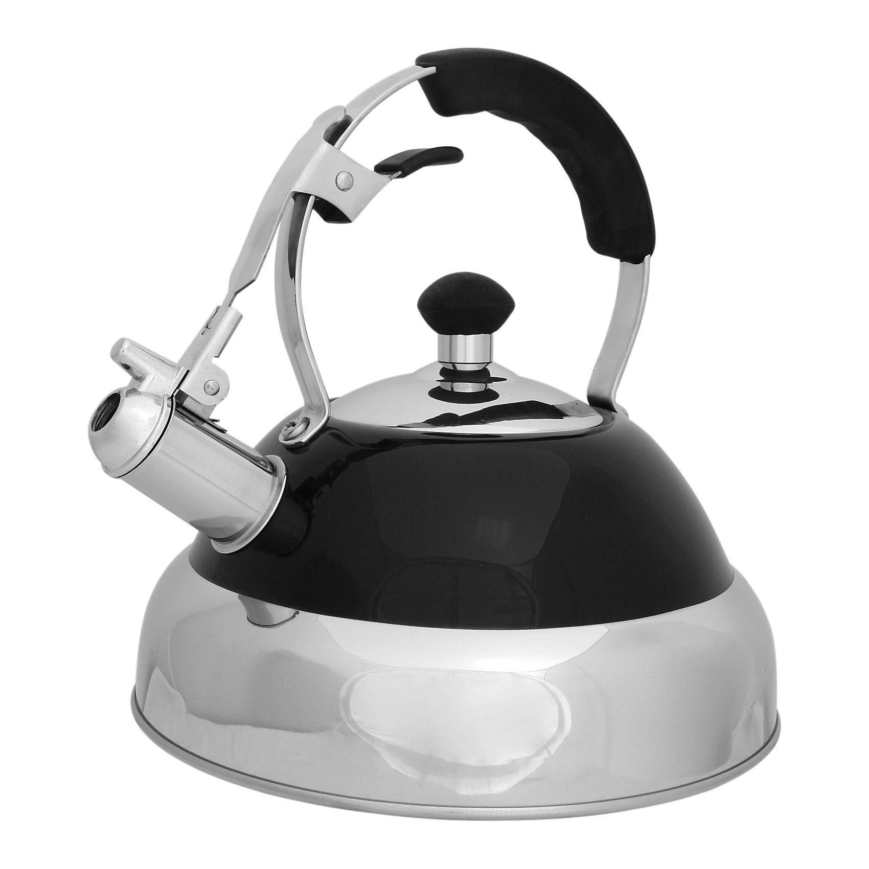 Чайник из нерж. стали MAL-046 , 2,5 л, Mallony, чёрныйБытовая техника для кухни<br>Чайник из нерж. стали MAL-046 , 2,5 л, Mallony (Маллони), чёрный<br><br>Характеристики:<br><br>• свисток, оповещающий о закипании воды<br>• ручка из силикона<br>• тройное капсулированное дно<br>• материал: нержавеющая сталь, силикон, металл<br>• цвет: красный<br>• объем: 2,5 литра<br>• размер упаковки: 22х23х24 см<br>• вес: 1192 грамма<br><br>Чайник MAL-046 - настоящий помощник для хозяек. Чайник быстро вскипятит воду, а свисток оповестит вас о закипании воды. Изделие имеет тройное капсулированное дно, что значительно сократит время приготовления и защитит чайник от окисления. Ручка чайника изготовлена из силикона, благодаря чему вы сможете удобно взять чайник после подогрева воды. Чайник выполнен из нержавеющей стали, которая гарантирует посуде долговечность.<br><br>Чайник из нерж. стали MAL-046 , 2,5 л, Mallony (Маллони), чёрный вы можете купить в нашем интернет-магазине.<br><br>Ширина мм: 230<br>Глубина мм: 220<br>Высота мм: 240<br>Вес г: 1192<br>Возраст от месяцев: 216<br>Возраст до месяцев: 1188<br>Пол: Унисекс<br>Возраст: Детский<br>SKU: 5622850