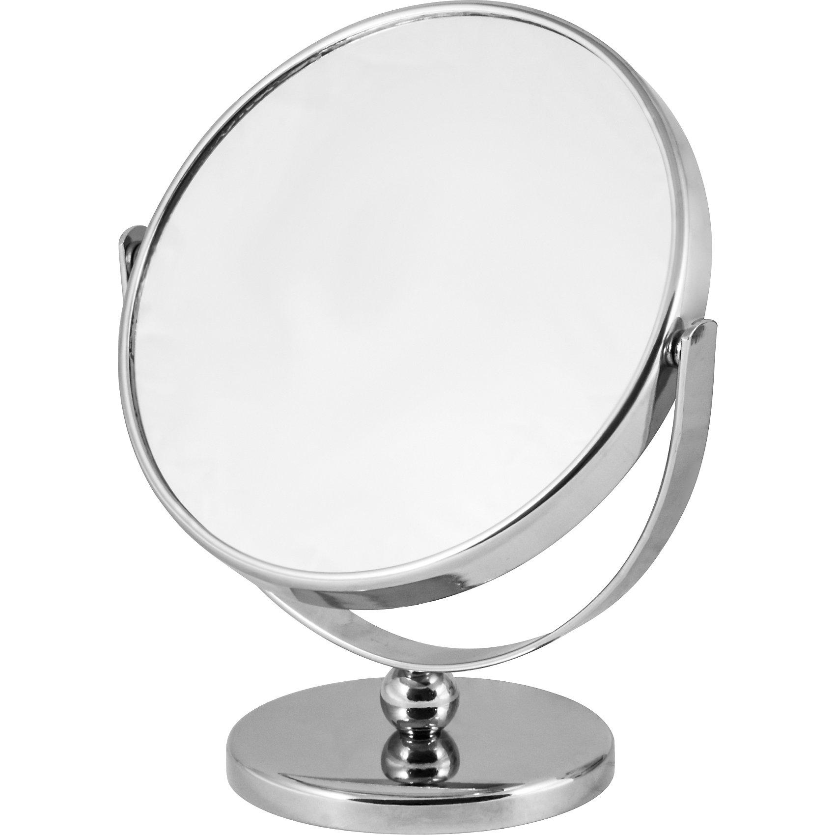 Зеркало косметическое M-3135 двухстороннее, Рыжий котВанная комната<br>Зеркало косметическое M-3135 двухстороннее, Рыжий кот<br><br>Характеристики:<br><br>• пятикратное увеличение<br>• расположено на ножке<br>• диаметр: 12,5 см<br>• размер: 13,5х8х15 см<br>• материал: хромированный металл, стекло<br>• размер упаковки: 18х9х14 см<br>• вес: 364 грамма<br><br>Косметическое зеркало - необходимый аксессуар для ванной комнаты. Оно поможет вам создать правильный макияж, прическу и выполнить гигиенические процедуры. Одна сторона имеет обычное зеркало, а другая - зеркало с пятикратным увеличением. Зеркало расположено на ножке, благодаря чему вы сможете удобно расположить его в вашей ванной.<br><br>Зеркало косметическое M-3135 двухстороннее, Рыжий кот вы можете купить в нашем интернет-магазине.<br><br>Ширина мм: 140<br>Глубина мм: 90<br>Высота мм: 180<br>Вес г: 364<br>Возраст от месяцев: 216<br>Возраст до месяцев: 1188<br>Пол: Унисекс<br>Возраст: Детский<br>SKU: 5622855