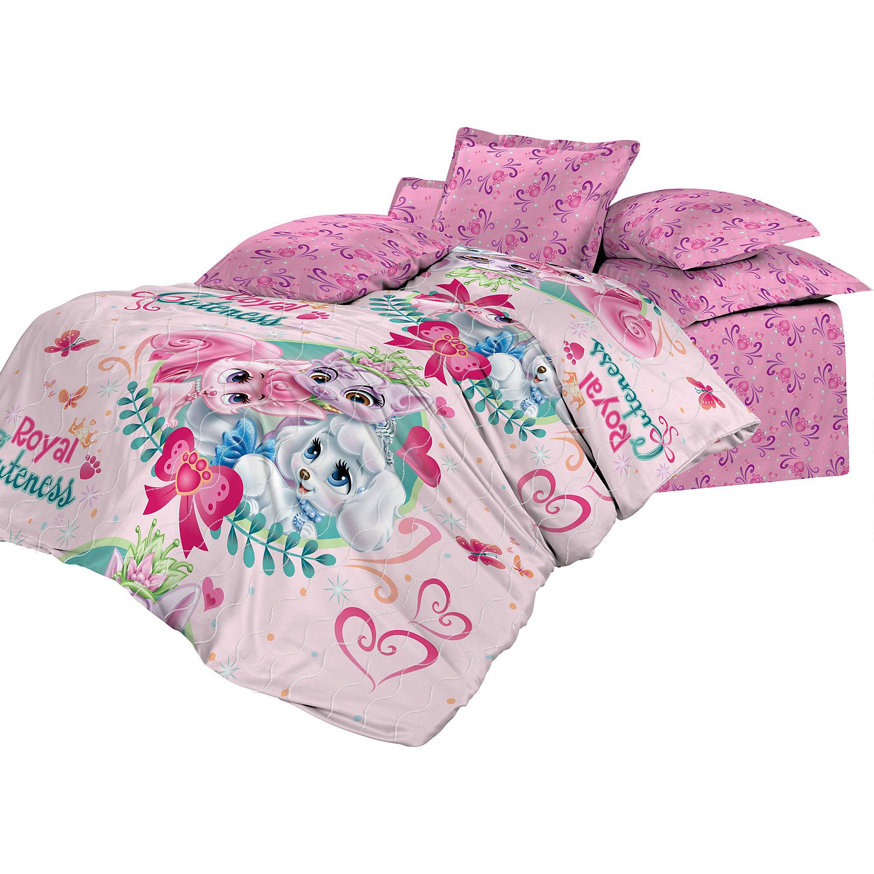 Покрывало стеганое 145*200 Palace Pets Милашка, Лилия, НепоседаДомашний текстиль<br>Характеристики:<br><br>• Вид домашнего текстиля: покрывало<br>• Тип постельного белья по размерам: 1,5 спальное<br>• Материал: хлопок, 100%<br>• Наполнитель: силиконизированное волокно (софт)<br>• Тематика рисунка: Королевские питомцы<br>• Размеры (Ш*Д): 145*200 см <br>• Тип упаковки: сумка <br>• Вес в упаковке: 1 кг 200 г<br>• Размеры упаковки (Д*Ш*В): 50*25*50 см<br>• Особенности ухода: допускается машинная стирка в щадящем режиме или влажная чистка<br><br>Покрывало стеганое 145*200 Palace Pets Милашка, Лилия, Непоседа выполнено в ярком дизайне с изображением пуделя Тыковки, киски Лилии и белочки Милашки. Все швы изделия тщательно обработаны. Стежка, выполненная по всему полотну изделия, не только ровно распределяет наполнитель, но и выполняет декоративную функцию. <br><br>Такое покрывало можно использовать в качестве одеяла в летний период времени. Изделие упаковано в красивую сумочку с ручками, поэтому его можно преподнести в качестве подарка для юных поклонниц сериала Королевские Питомцы: Пушистые Истории.<br><br>Покрывало стеганое 145*200 Palace Pets Милашка, Лилия, Непоседа можно купить в нашем интернет-магазине.<br><br>Ширина мм: 500<br>Глубина мм: 250<br>Высота мм: 500<br>Вес г: 1200<br>Возраст от месяцев: 36<br>Возраст до месяцев: 144<br>Пол: Женский<br>Возраст: Детский<br>SKU: 5623417