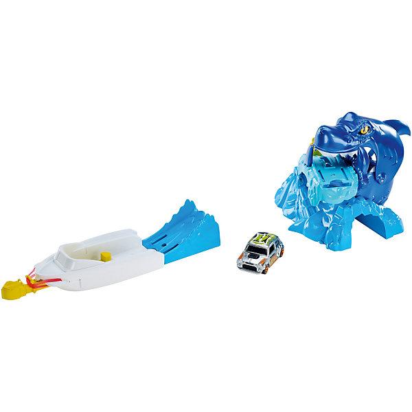 Игровой набор, Hot WheelsМашинки<br>Характеристики товара:<br><br>• возраст от 4 лет;<br>• материал: пластик, металл;<br>• в комплекте: машина, детали трека;<br>• масштаб машинки 1:64;<br>• размер упаковки 30,5х19х5,5 см;<br>• вес упаковки 429 гр.;<br>• страна производитель: Китай.<br><br>Игровой набор Hot Wheels Creature Set Sharkbait — увлекательный трек, который позволит устроить захватывающие гонки. Пусковой механизм позволяет отправить машинку в путь по трассе, на которой ей предстоит встретиться с опасной акулой, которая вот-вот закроет пасть.<br><br>Игровой набор Hot Wheels Creature Set Sharkbait можно приобрести в нашем интернет-магазине.<br><br>Ширина мм: 305<br>Глубина мм: 55<br>Высота мм: 190<br>Вес г: 429<br>Возраст от месяцев: 48<br>Возраст до месяцев: 120<br>Пол: Мужской<br>Возраст: Детский<br>SKU: 5627292