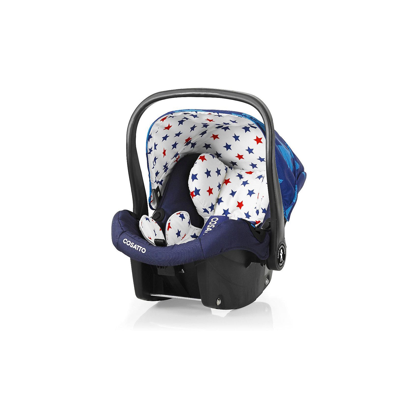 Автокресло Cosatto Port, 0-13 кг, StarbrightГруппа 0+ (До 13 кг)<br>Характеристики:<br><br>• группа: 0+;<br>• вес ребенка: до 13 кг;<br>• возраст: от рождения до 18 месяцев;<br>• соответствует нормам безопасности  ECE R44/04;<br>• установка: против хода движения автомобиля;<br>• может крепиться штатным автомобильным ремнем или устанавливаться на одну из баз Cosatto (Isofix и для 3-точечного ремня);<br>• совместимо с шасси колясок Cosatto Ooba, Fly, Wish, Wow, Woop;<br>• можно использовать как переноску или люльку;<br>• 3-точечные внутренние ремни имеют 2 положения;<br>• плечевые и нагрудные подушечки;<br>• анатомический вкладыш;<br>• специальная подушка для головы;<br>• усиленная боковая защита;<br>• ударопрочный пластик;<br>• солнцезащитный съемный козырек из ткани;<br>• ручка для переноски;<br>• сзади расположен бардачок;<br>• гипоаллергенный материал обивки;<br>• съемный чехол можно стирать при температуре 30 градусов;<br>• материал: пластик, полиэстер.<br><br>Габариты автокресла: 70х60х44 см.<br>Вес автокресла: 3 кг.<br><br>Автокресло разработано для безопасной перевозки малышей в салоне автомобиля. Представленную модель можно использовать не только как авто-люльку, а и устанавливать на шасси коляски, что очень удобно на прогулке за городом. Продуманная до мелочей система безопасности максимально защищает малыша во время движения. Автокресло устанавливается на сиденье и крепится при помощи штатного ремня безопасности автомобиля либо устанавливается на специальную базу (приобретается отдельно). <br><br>Автокресло Port 0-13 кг., Cosatto, Starbright можно купить в нашем интернет-магазине.<br><br>Ширина мм: 750<br>Глубина мм: 450<br>Высота мм: 390<br>Вес г: 6000<br>Возраст от месяцев: -2147483648<br>Возраст до месяцев: 2147483647<br>Пол: Унисекс<br>Возраст: Детский<br>SKU: 5629488