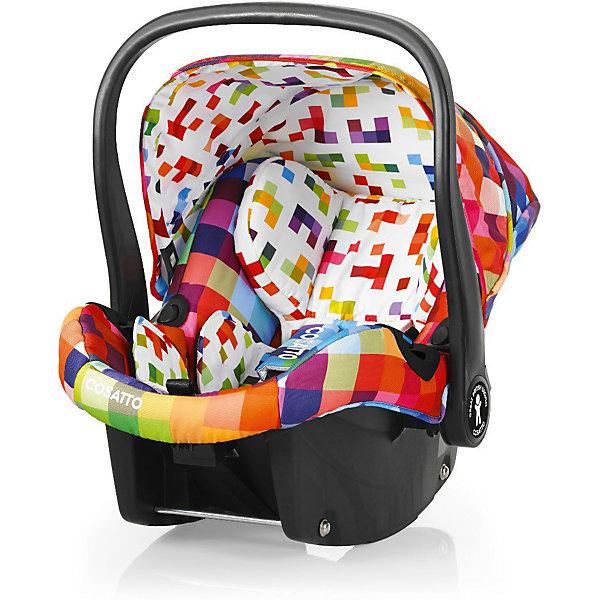 Автокресло Cosatto Port, 0-13 кг., PixelateГруппа 0+  (до 13 кг)<br>Характеристики:<br><br>• группа: 0+;<br>• вес ребенка: до 13 кг;<br>• возраст: от рождения до 18 месяцев;<br>• соответствует нормам безопасности  ECE R44/04;<br>• установка: против хода движения автомобиля;<br>• может крепиться штатным автомобильным ремнем или устанавливаться на одну из баз Cosatto (Isofix и для 3-точечного ремня);<br>• совместимо с шасси колясок Cosatto Ooba, Fly, Wish, Wow, Woop;<br>• можно использовать как переноску или люльку;<br>• 3-точечные внутренние ремни имеют 2 положения;<br>• плечевые и нагрудные подушечки;<br>• анатомический вкладыш;<br>• специальная подушка для головы;<br>• усиленная боковая защита;<br>• ударопрочный пластик;<br>• солнцезащитный съемный козырек из ткани;<br>• ручка для переноски;<br>• сзади расположен бардачок;<br>• гипоаллергенный материал обивки;<br>• съемный чехол можно стирать при температуре 30 градусов;<br>• материал: пластик, полиэстер.<br><br>Габариты автокресла: 70х60х44 см.<br>Вес автокресла: 3 кг.<br><br>Автокресло разработано для безопасной перевозки малышей в салоне автомобиля. Представленную модель можно использовать не только как авто-люльку, а и устанавливать на шасси коляски, что очень удобно на прогулке за городом. Продуманная до мелочей система безопасности максимально защищает малыша во время движения. Автокресло устанавливается на сиденье и крепится при помощи штатного ремня безопасности автомобиля либо устанавливается на специальную базу (приобретается отдельно). <br><br>Автокресло Port 0-13 кг., Cosatto, Pixelate можно купить в нашем интернет-магазине.<br><br>Ширина мм: 750<br>Глубина мм: 450<br>Высота мм: 390<br>Вес г: 6000<br>Возраст от месяцев: -2147483648<br>Возраст до месяцев: 2147483647<br>Пол: Унисекс<br>Возраст: Детский<br>SKU: 5629489