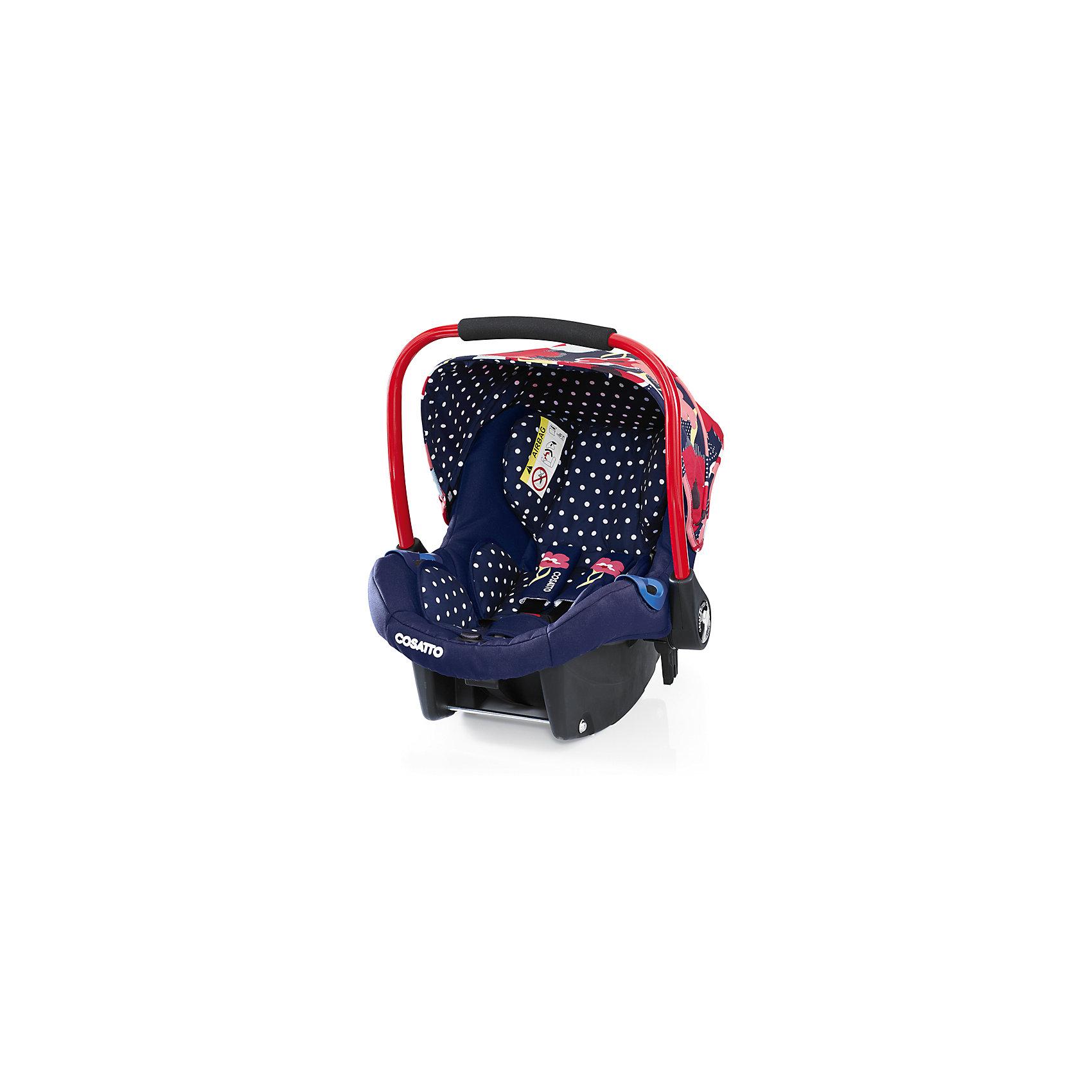 Автокресло Cosatto Port, 0-13 кг., Proper PoppyГруппа 0+ (До 13 кг)<br>Детское автокресло COSSATO PORT предназначено для безопасных и комфортных поездок в автомобиле. <br><br>Также кресло может быть установлено на шасси колясок COSATTO Fly, Wish и Ooba.<br><br>Характеристики:<br><br>    Автокресло группы 0+ для детей с рождения весом до 13 кг<br>    Устанавливается против хода движения автомобиля<br>    Возможность установки на заднем и переднем сидении автомобиля при отсутствии подушки безопасности<br>    Крепление штатным ремнем безопасности автомобиля или с помощью базы Isofix (приобретается отдельно)<br>    5-точечные ремни безопасности с мягкими накладками имеют 2 положения крепления<br>    Анатомический вкладыш обеспечивает максимальный комфорт даже для новорожденного ребенка<br>    Удобная подушка для головы, мягкие накладки на грудь и живот малыша<br>    Защита боковинок<br>    Оборудовано удобной ручкой для переноски малыша, не доставая его из автокресла<br>    Съемный козырек<br>    Сзади расположен бардачек<br>    Может использоваться как кресло-качалка<br>    Чехлы из прочной ткани пригодны для чистки и стирки<br>    Возможность установки на шасси колясок Cosatto Fly, Wish, Ooba, Wow, Woop<br>    В комплекте: вкладка для новорожденных, нагрудные подушечки и мягкая защита крепления<br><br>Размеры:<br><br>Общие (Д х Ш х Г), см: 69 х 43 х 59<br><br>Ширина мм: 750<br>Глубина мм: 450<br>Высота мм: 390<br>Вес г: 6000<br>Возраст от месяцев: -2147483648<br>Возраст до месяцев: 2147483647<br>Пол: Унисекс<br>Возраст: Детский<br>SKU: 5629492