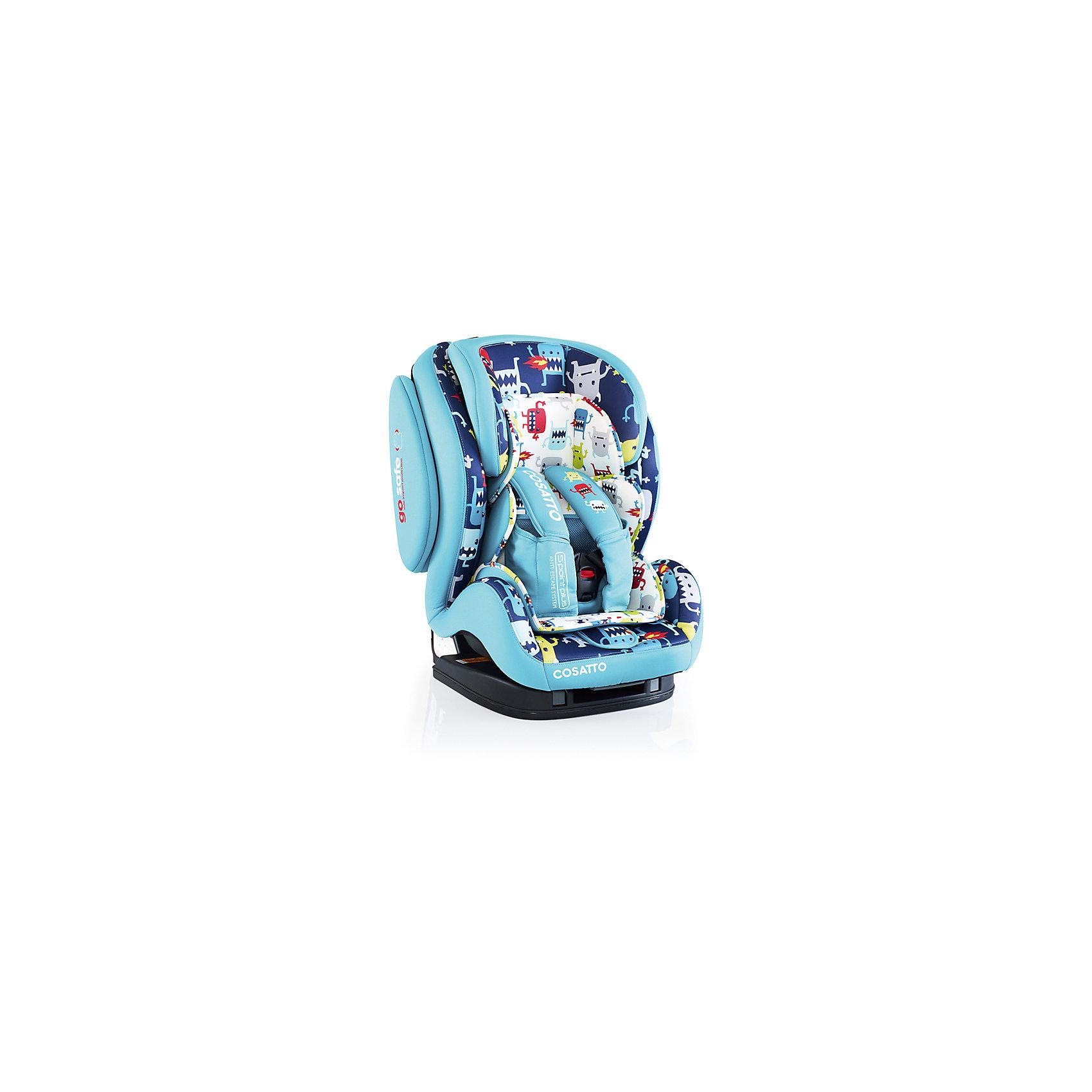Автокресло Cosatto Hug Isofix, 9-36 кг., Cuddle Monster 2Группа 1-2-3 (От 9 до 36 кг)<br>Автокресло HUG группы 1 - 2 - 3 от COSATTO, большое, мягкое и уютное, сбережет малыша во время автомобильных путешествий.<br><br>Обеспечивает максимальную безопасность для ребенка и удобство для родителей.<br><br>Продумано все до мелочей: мягкие накладки на плечи, усиленные боковины, регулируемый подголовник, съемная мягкая вкладка и 5-точечные ремни безопасности.<br><br>Кресло легко устанавливается и может размещаться на переднем или заднем сидении автомобиля.<br><br>Характеристики:<br><br>    Для детей с 9 месяцев до 12 лет весом от 9 до 36 кг<br>    Легко устанавливается в автомобиле с помощью системы крепления Isofix или с помощью стандартных 3-точечных ремней безопасности<br>    Использование на переднем (при отключенной подушке безопасности) или на заднем сидении автомобиля<br>    Защита от бокового удара<br>    5 позиций наклона кресла<br>    5-точечные ремни безопасности с быстрой застежкой<br>    Регулируемый по высоте подголовник<br>    Удобные мягкие подлокотники<br>    Отделка из эко-кожи<br>    Соответствует ЕЭК R44 / 04<br><br>Размеры: <br><br>Автокресло, см: 64 х 50 х 50<br><br>Вес: 9,5 кг<br><br>Ширина мм: 680<br>Глубина мм: 550<br>Высота мм: 550<br>Вес г: 15000<br>Возраст от месяцев: -2147483648<br>Возраст до месяцев: 2147483647<br>Пол: Унисекс<br>Возраст: Детский<br>SKU: 5629502