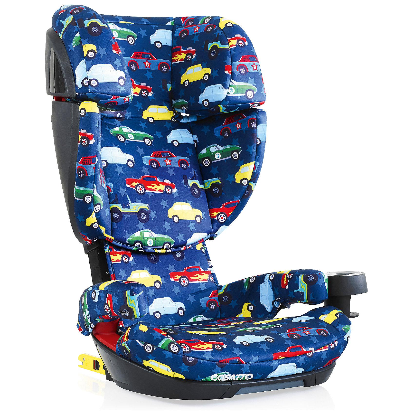 Автокресло Cosatto Skippa Isofix, 15-36 кг., Rev UpГруппа 2-3 (От 15 до 36 кг)<br>Автокресло 2017 года Cosatto Skippa Fix было создано для наиболее комфортных и максимально безопасных поездок в автомобиле. Модель предназначена для детей от 4 до 12 лет.<br><br>Особенностями автокресла являются надежная боковая защита, мягкое удобное сиденье и съемный держатель для напитков.<br><br>Характеристики:<br><br>    Для детей от 4 до 12 лет, весом от 15 до 36 кг<br>    Устанавливается в автомобиле лицом по ходу движения с помощью штатных 3-точечных ремней безопасности либо системы крепления Isofix<br>    Надежная защита от боковых ударов<br>    2 положения по наклону<br>    Спинка, регулируемая по высоте<br>    Комфортное мягкое сиденье<br>    Съемный подстаканник<br>    Моющиеся чехлы<br>    Соответствует европейскому стандарту ECE R44/04<br><br>Ширина мм: 750<br>Глубина мм: 450<br>Высота мм: 330<br>Вес г: 8000<br>Возраст от месяцев: -2147483648<br>Возраст до месяцев: 2147483647<br>Пол: Унисекс<br>Возраст: Детский<br>SKU: 5629505
