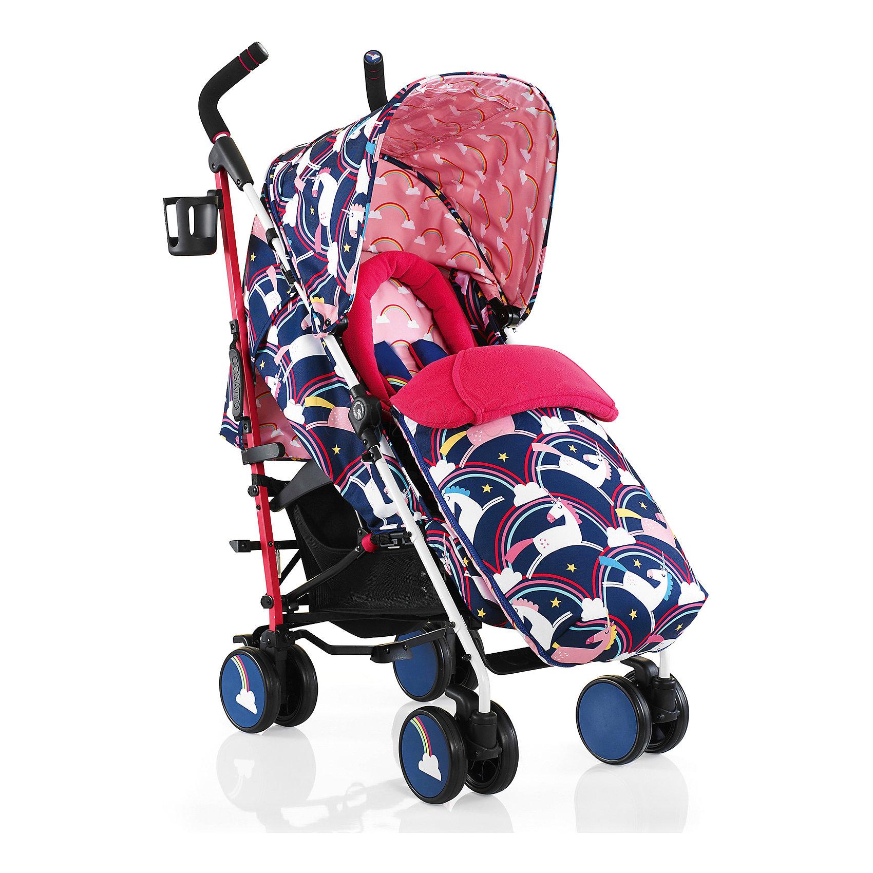 Коляска-трость Cosatto Supa, Magic UnicornsКоляски-трости<br>Стильная коляска станет для родителей не только незаменимой вещью, но и стильным аксессуаром. Функциональность, дизайн и маневренность – все это – новая модель от Cosatto. Все материалы, использованные при изготовлении, безопасны и отвечают требованиям по качеству продукции.<br><br>Дополнительные характеристики: <br><br>возраст: 6 месяцев – 3 года;<br>регулируемый капюшон;<br>механизм складывания: трость;<br>регулировка спинки;<br>ножной тормоз;<br>пятиточечные ремни безопасности;<br>габариты: 78 х 48,5 х 110 см;<br>материал шасси: алюминий;<br>комплектация: блок для прогулок, складывающиеся шасси, подголовник, подстаканник, защита от дождя и солнца, регулируемая ручка, конверт - муфта.<br><br>ВНИМАНИЕ!!! В комплектацию коляски не входит бампер, его можно купить отдельно.<br><br>Коляску-трость SUPA от компании Cosatto можно приобрести в нашем магазине.<br><br>Ширина мм: 1200<br>Глубина мм: 280<br>Высота мм: 280<br>Вес г: 12000<br>Возраст от месяцев: -2147483648<br>Возраст до месяцев: 2147483647<br>Пол: Унисекс<br>Возраст: Детский<br>SKU: 5629508