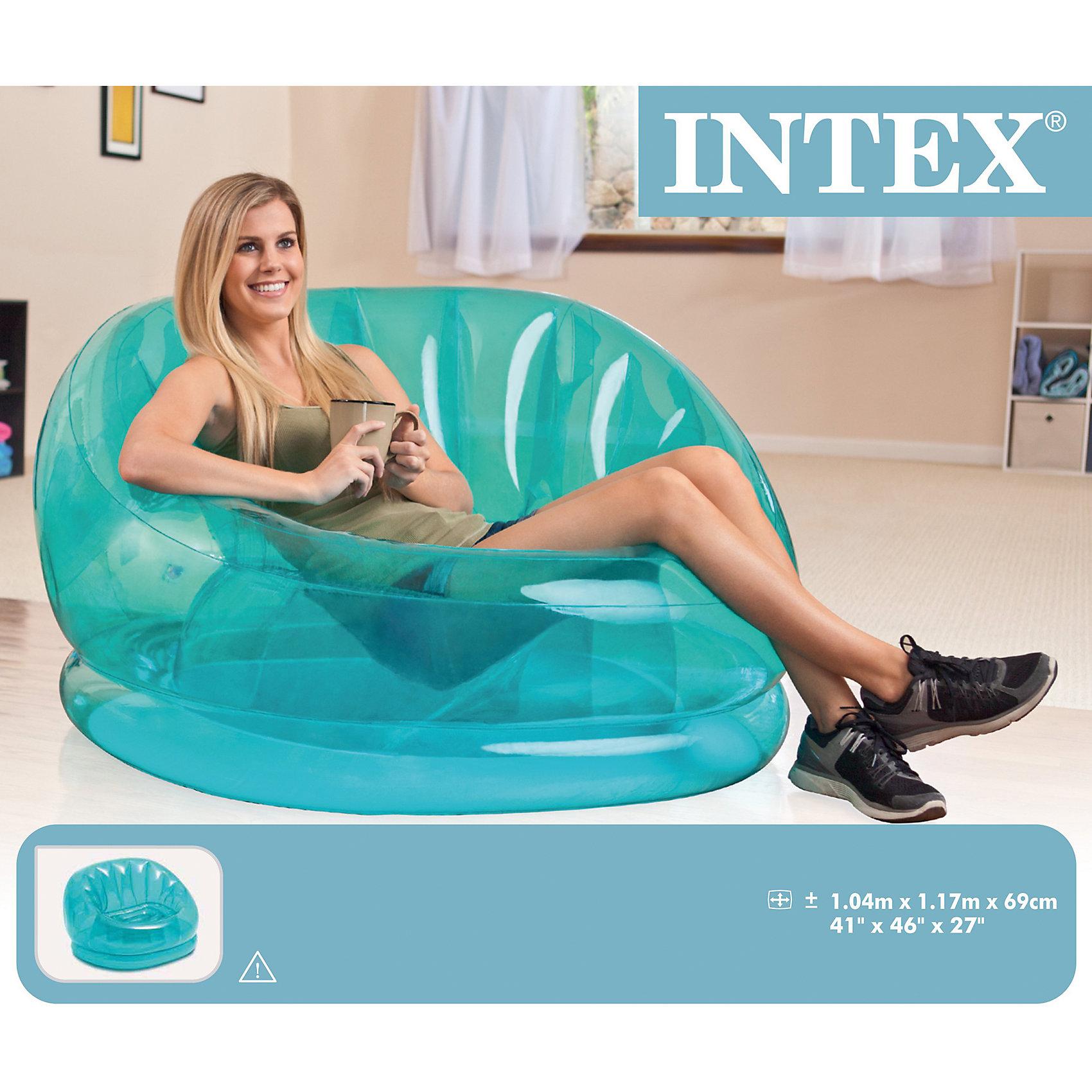 Надувное кресло Космос 104х117х69см, IntexМатрасы и лодки<br>Надувное прозрачное кресло Intex 68593/68594 приятной голубой расцветки, станет прекрасным дополнением к вашему интерьеру. Благодаря материалу устойчивому к проколам, можно использовать не только дома, но и на даче или на природу. Кресло достаточно упругое, благодаря внутренним поддерживающим перегородкам, что позволяет выдерживать большие нагрузки.Рекомендуем не допускать к надувному изделию домашних животных, имеющих острые когти и зубы, т.к высока вероятность нанесения изделию механических повреждений(проколов, порезов, прокусов, и т. д )!!!! В сложенном виде изделие не займёт много места на полке и в багаже.<br><br>Ширина мм: 370<br>Глубина мм: 310<br>Высота мм: 100<br>Вес г: 2960<br>Возраст от месяцев: 36<br>Возраст до месяцев: 1188<br>Пол: Унисекс<br>Возраст: Детский<br>SKU: 5630557