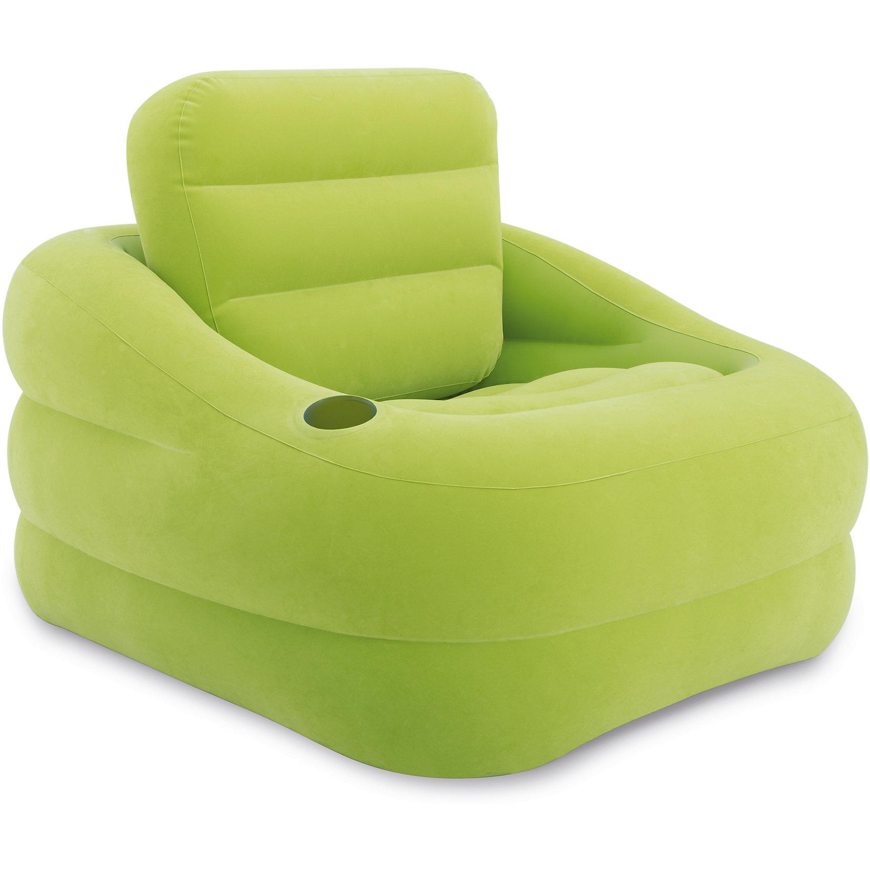 Надувное кресло Акцент 97х107х71см, Intex, зеленыйДомики и мебель<br>Характеристики товара:<br><br>• материал: поливинилхлорид, 100%<br>• размеры места (ВхШхД): 97х71х107 см <br>• максимальная нагрузка: до 100 кг<br>• повышенная прочность материала<br>• велюровая поверхность<br>• вес в упаковке: 3 кг 573 г<br>• размеры в упаковке (Д*Ш*В): 40,5*36*13,5 см<br>• особенности ухода: влажная и сухая чистка<br><br>Надувное кресло выполнено из безопасного и прочного поливинилхлорида, поверхность – из материала, подобного велюру. Кресло имеет эргономичную форму, за счет чего обеспечивается повышенные комфортные условия. <br><br>Надувное кресло Акцент 97х107х71см, Intex, зеленый идеально подходит для детской комнаты или дачи: его легкий вес и компактный размер в упаковке позволяют брать собой в поездки. Надувное кресло Акцент 97х107х71см, Intex, зеленый станет вашим незаменимым спутником дома, на природе, даче или даже на пляже! <br><br>Надувное кресло Акцент 97х107х71см, Intex, зеленый можно купить в нашем интернет-магазине.<br><br>Ширина мм: 405<br>Глубина мм: 360<br>Высота мм: 135<br>Вес г: 3573<br>Возраст от месяцев: 36<br>Возраст до месяцев: 1188<br>Пол: Унисекс<br>Возраст: Детский<br>SKU: 5630561