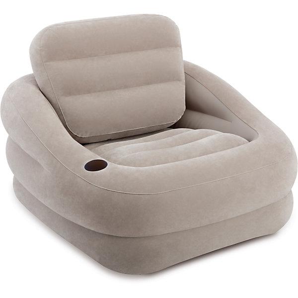 Надувное кресло Акцент 97х107х71см, Intex, серыйДомики и мебель<br>Характеристики:<br><br>• материал: поливинилхлорид, 100%<br>• размеры места (ВхШхД): 97х71х107 см <br>• максимальная нагрузка: до 100 кг<br>• повышенная прочность материала<br>• предусмотрена подставка для стакана<br>• велюровая поверхность<br>• вес в упаковке: 3 кг 573 г<br>• размеры в упаковке (ДхШхВ): 40,5х36х13,5 см<br>• особенности ухода: влажная и сухая чистка<br><br>Надувное кресло выполнено из безопасного и прочного поливинилхлорида, поверхность – из материала, подобного велюру. Кресло имеет эргономичную форму, за счет чего обеспечивается повышенные комфортные условия. <br><br>Надувное кресло Акцент 97х107х71см, Intex, серый идеально подходит для детской комнаты или дачи: его легкий вес и компактный размер в упаковке позволяют брать собой в поездки. <br><br>Надувное кресло Акцент 97х107х71см, Intex, зеленый станет вашим незаменимым спутником дома, на природе, даче или даже на пляже! <br><br>Надувное кресло Акцент 97х107х71см, Intex, серый можно купить в нашем интернет-магазине.<br>Ширина мм: 410; Глубина мм: 360; Высота мм: 135; Вес г: 3573; Возраст от месяцев: 36; Возраст до месяцев: 1188; Пол: Унисекс; Возраст: Детский; SKU: 5630562;