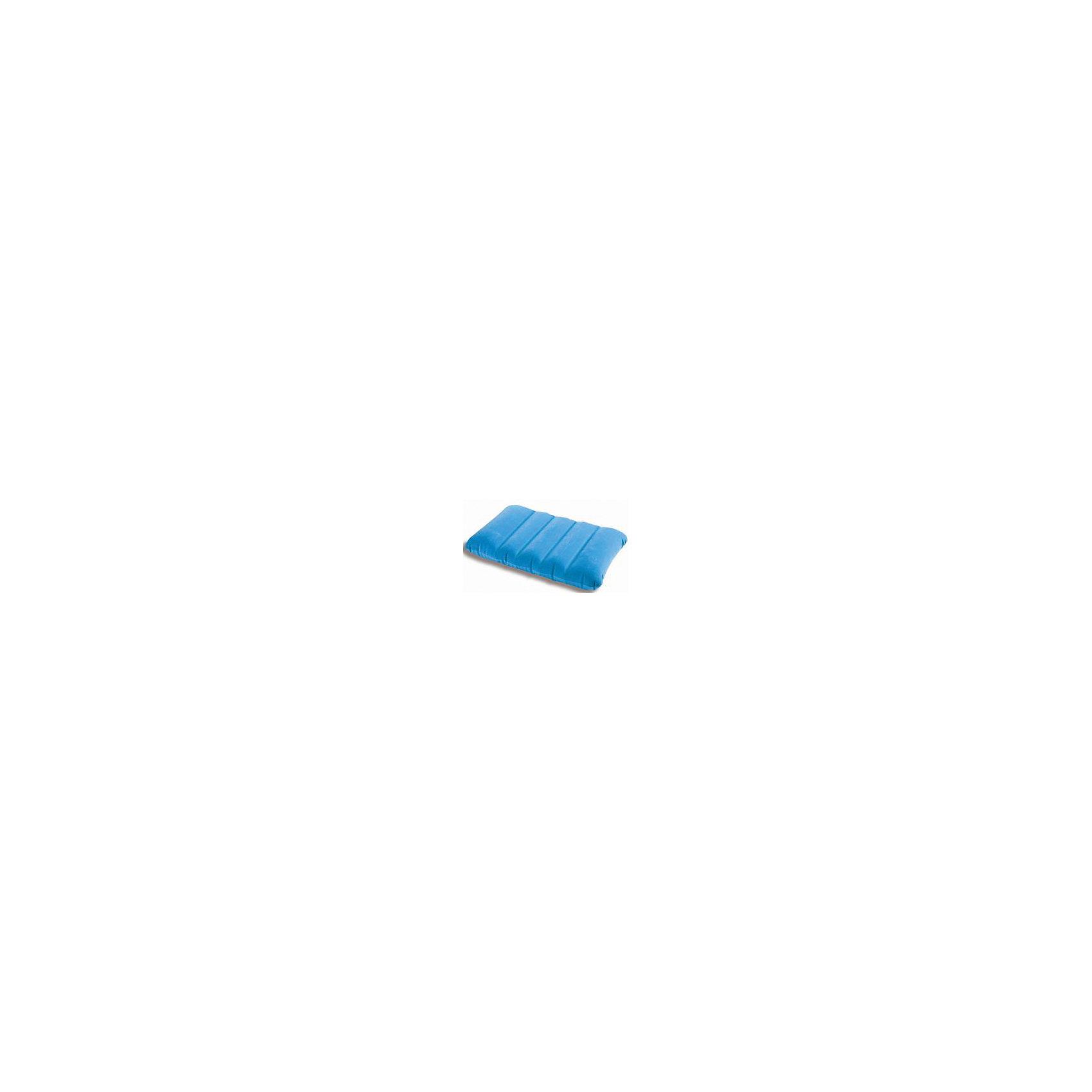 Надувная подушка Детская 43х28х9см, Intex, голубой